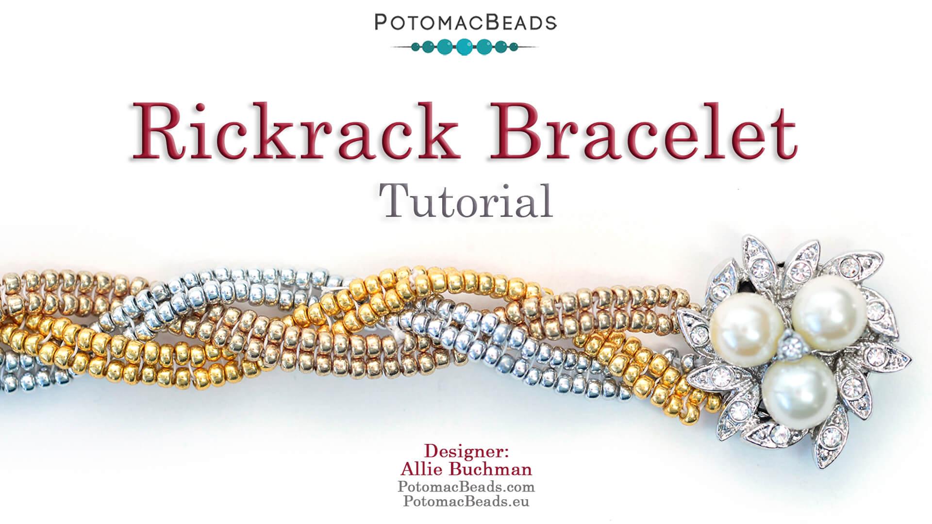 How to Bead Jewelry / Beading Tutorials & Jewel Making Videos / Bracelet Projects / Rickrack Bracelet Tutorial