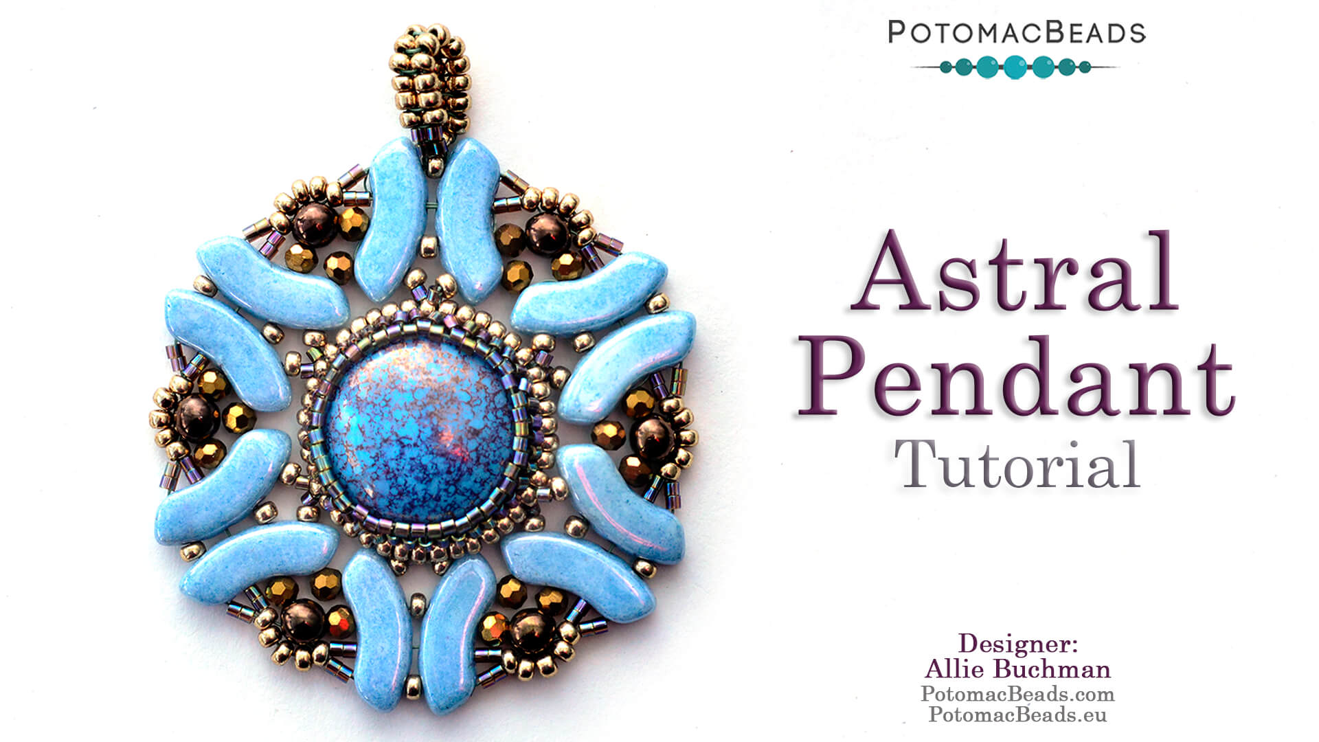 How to Bead / Free Video Tutorials / Pendant Projects / Astral Pendant Tutorial