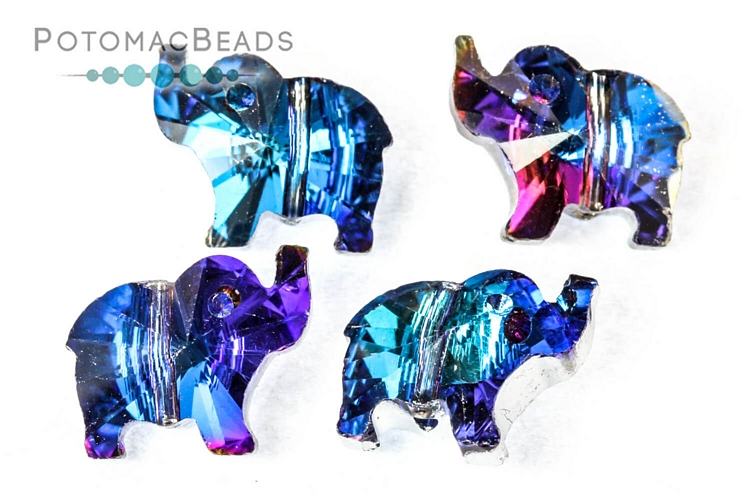 Jewelry Making Supplies & Beads / Beads and Crystals / Potomac Crystal Elephants