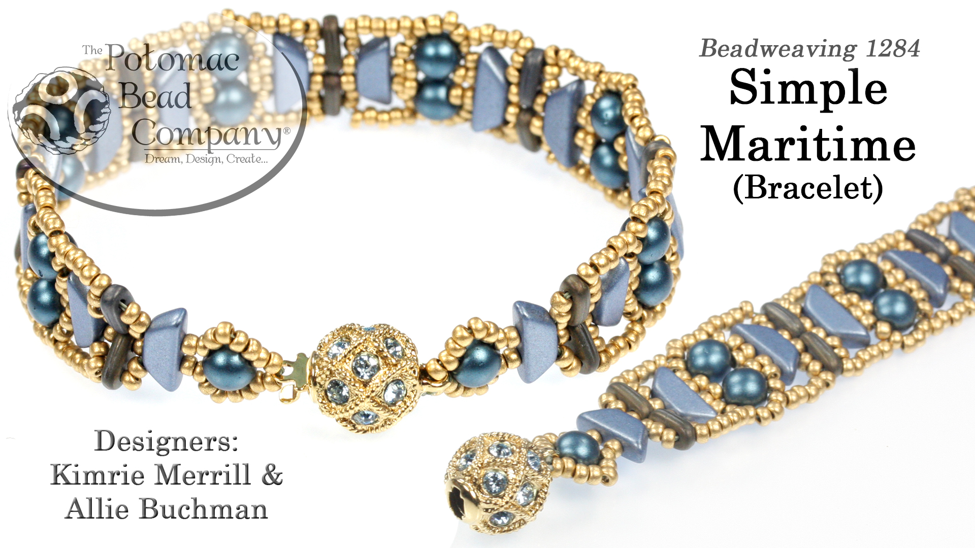 How to Bead Jewelry / Beading Tutorials & Jewel Making Videos / Bracelet Projects / Simple Maritime Bracelet Tutorial