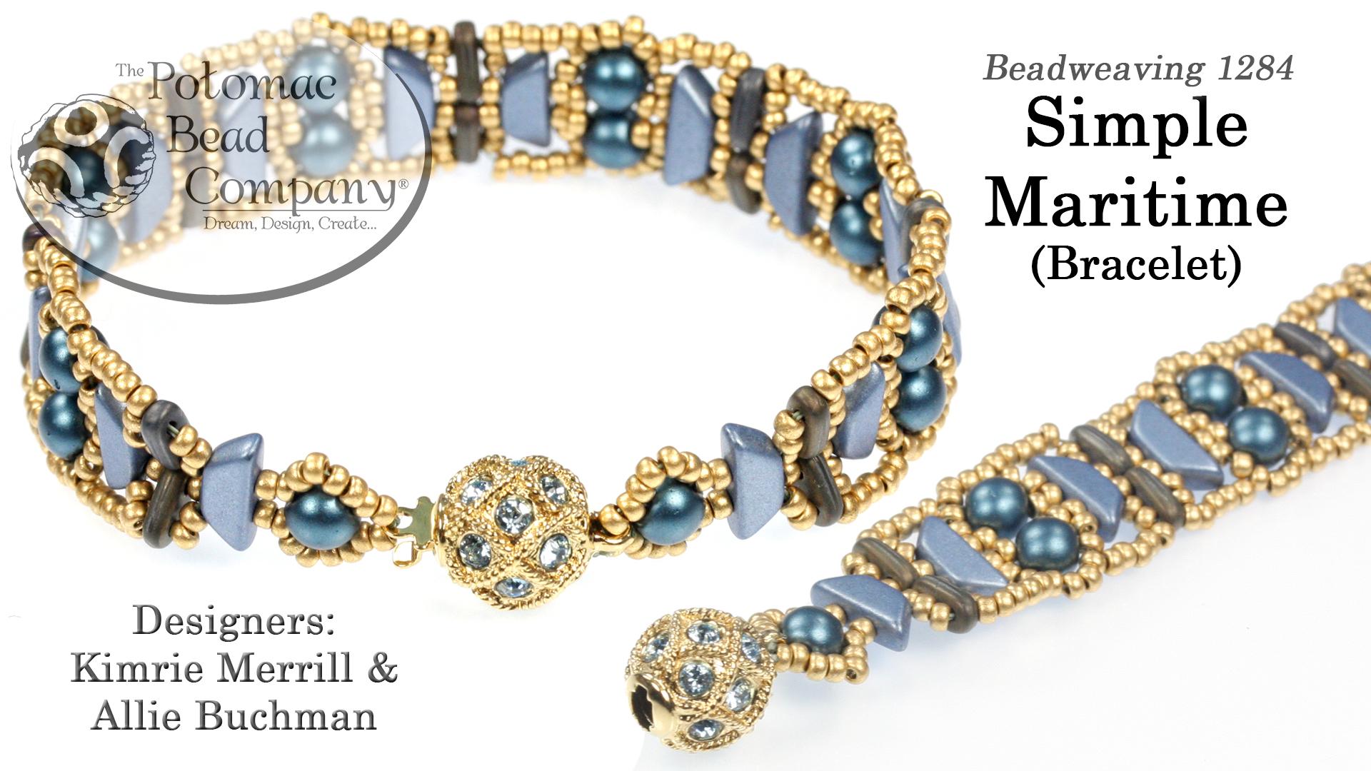 How to Bead / Videos Sorted by Beads / Par Puca® Bead Videos / Simple Maritime Bracelet Tutorial