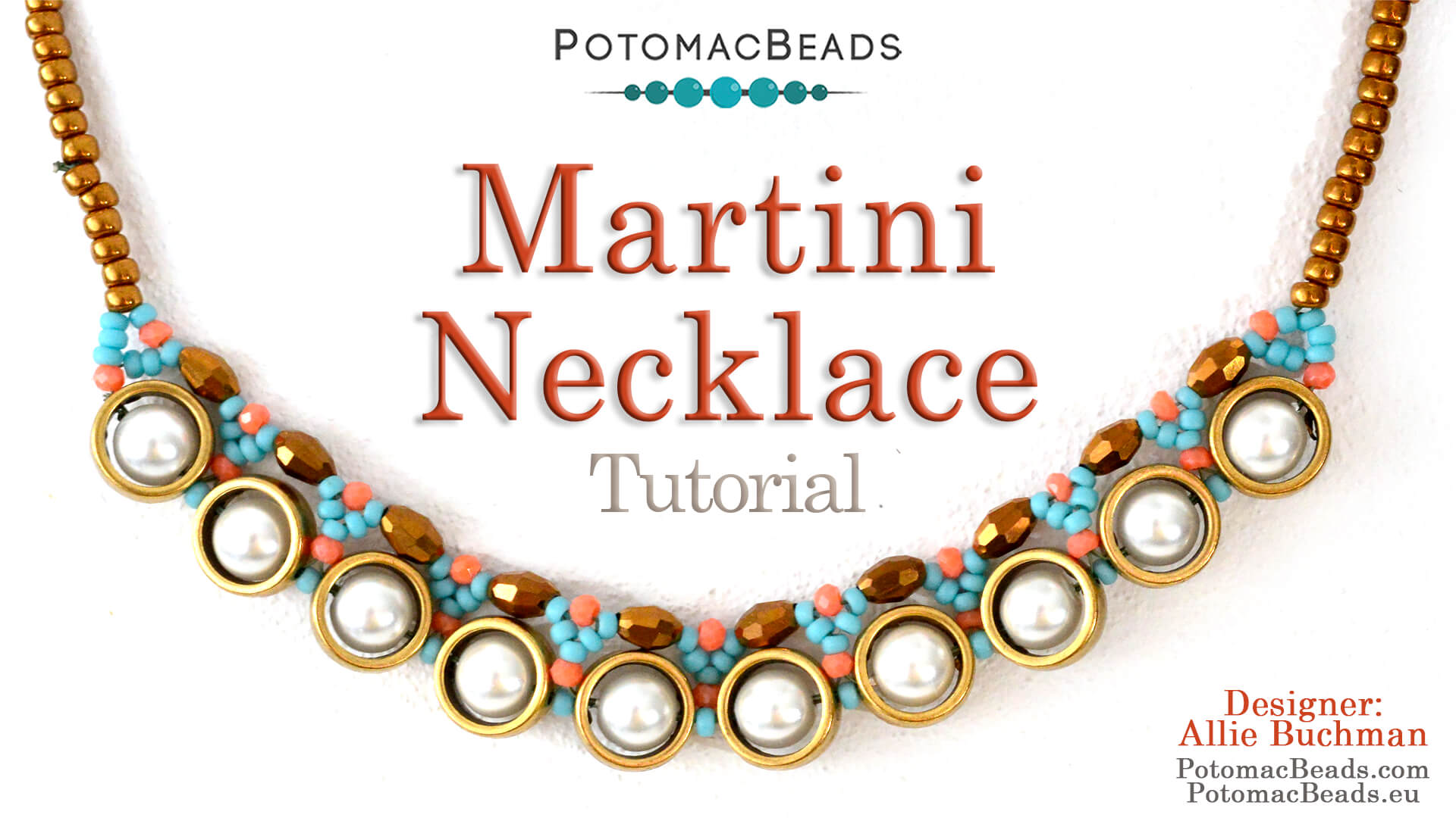 How to Bead Jewelry / Videos Sorted by Beads / Pearl Videos (Czech, Freshwater, Potomac Pearls) / Martini Necklace Tutorial