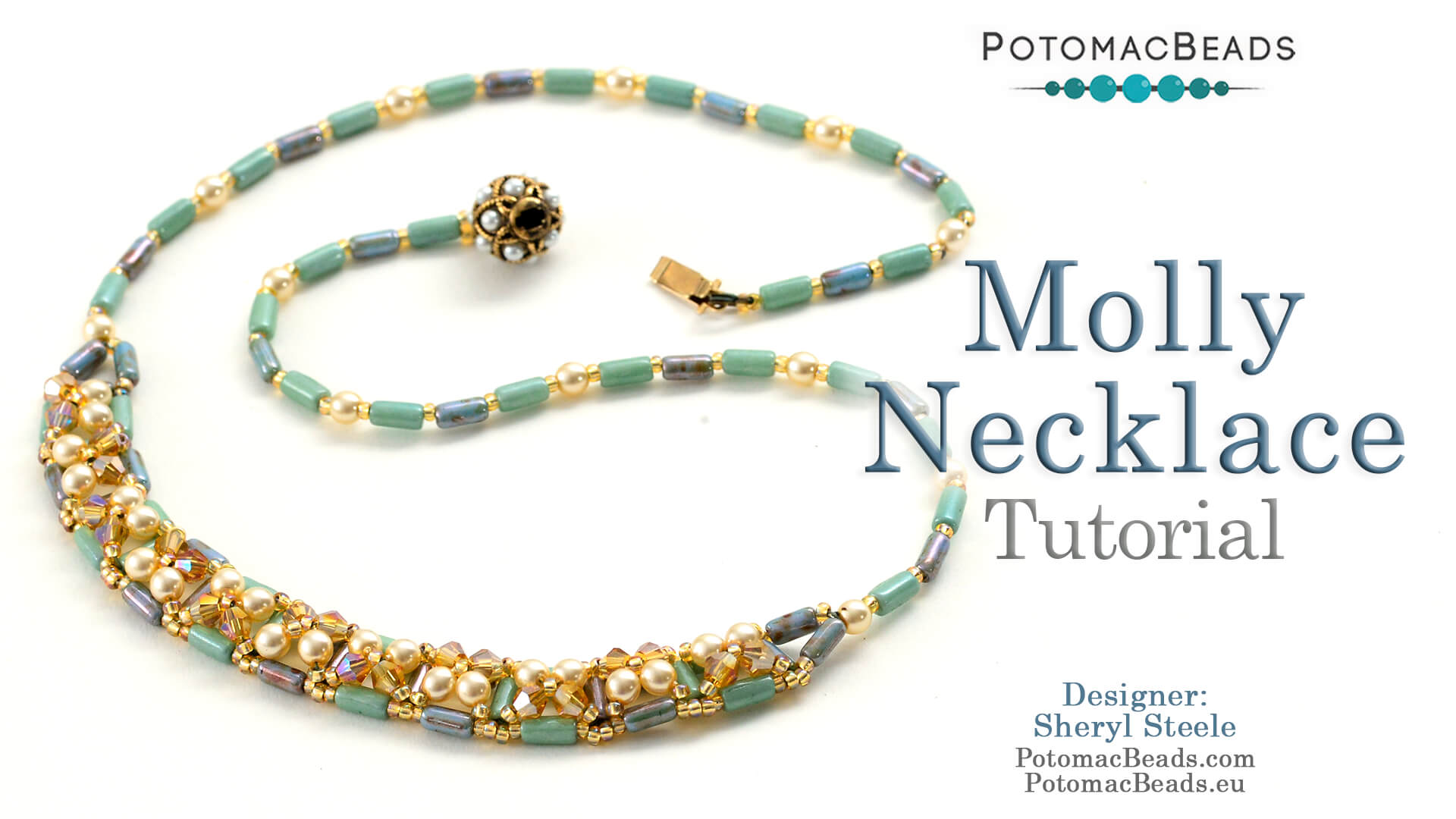 How to Bead Jewelry / Videos Sorted by Beads / Pearl Videos (Czech, Freshwater, Potomac Pearls) / Molly Necklace Tutorial