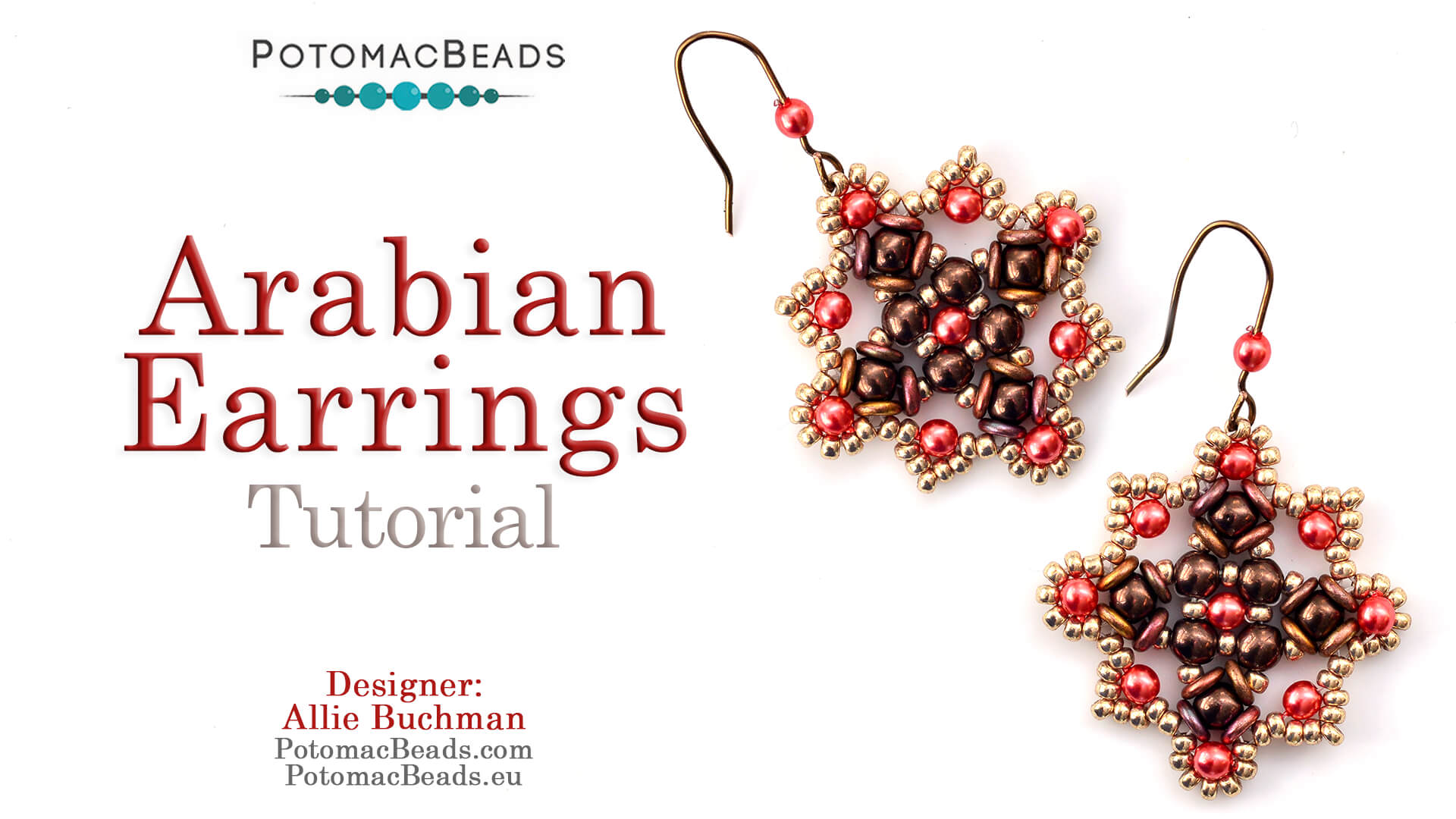 How to Bead / Videos Sorted by Beads / Pearl Videos (Czech & Freshwater) / Arabian Earrings Tutorial