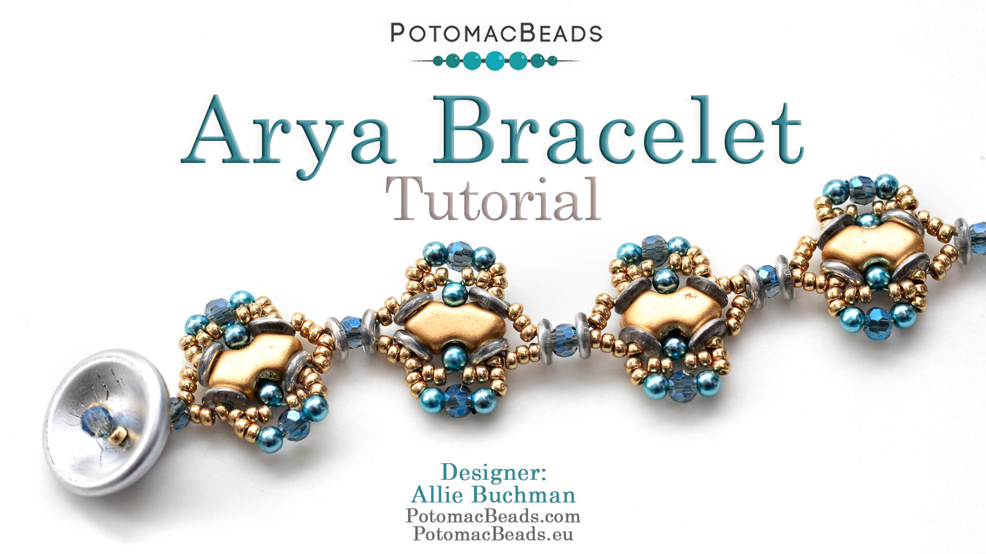 How to Bead Jewelry / Videos Sorted by Beads / Pearl Videos (Czech, Freshwater, Potomac Pearls) / Arya BraceleT Tutorial