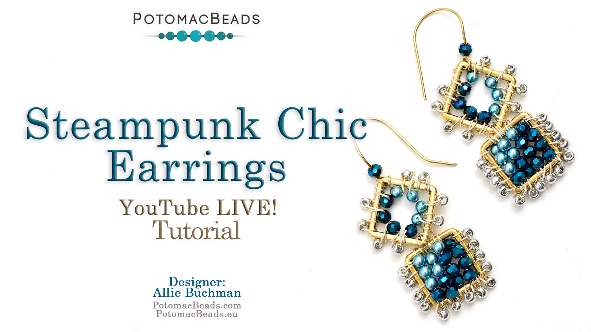 How to Bead Jewelry / Videos Sorted by Beads / Pearl Videos (Czech, Freshwater, Potomac Pearls) / Steampunk Chic Earrings