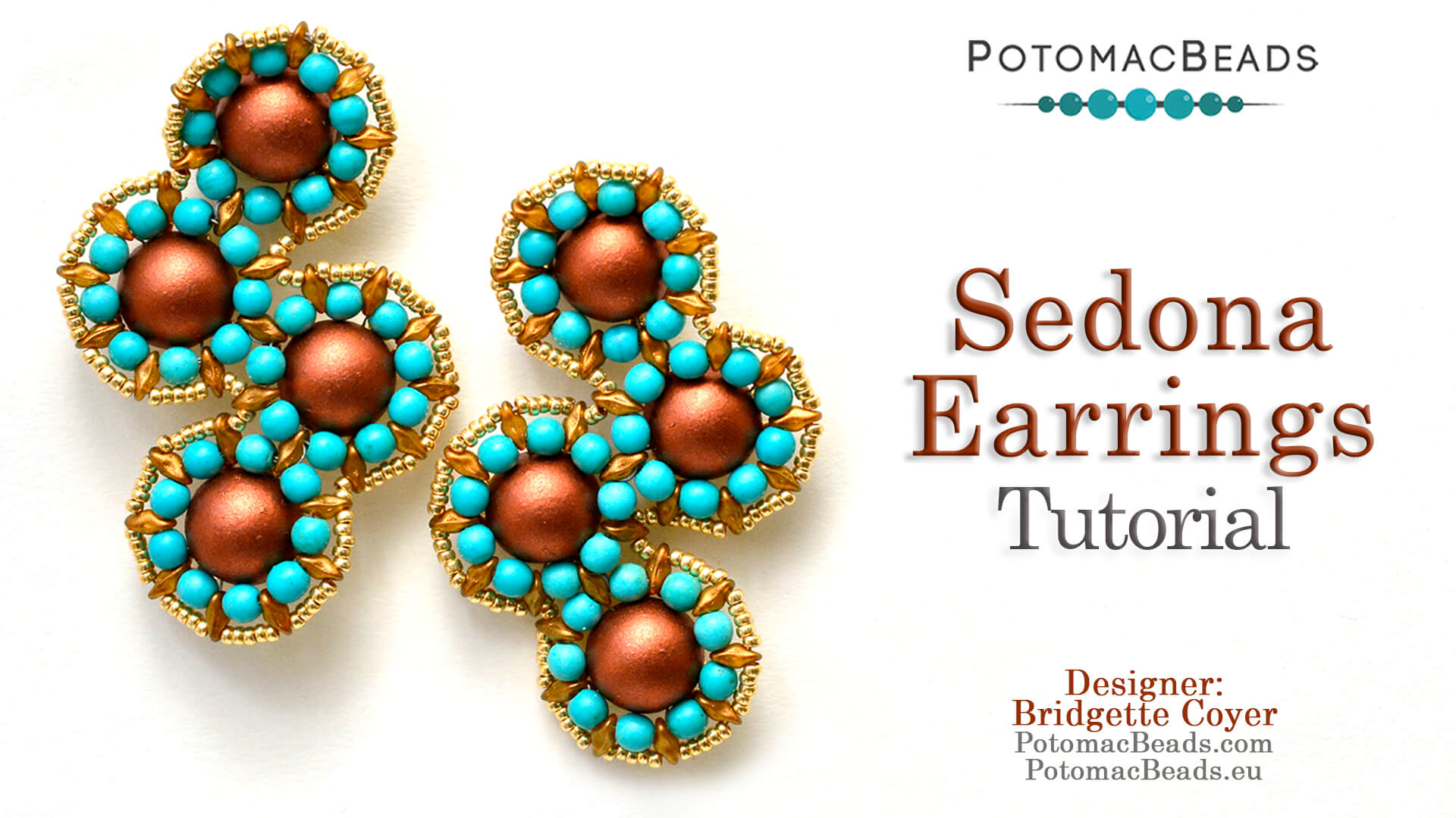How to Bead / Videos Sorted by Beads / Pearl Videos (Czech & Freshwater) / Sedona Earrings Tutorial