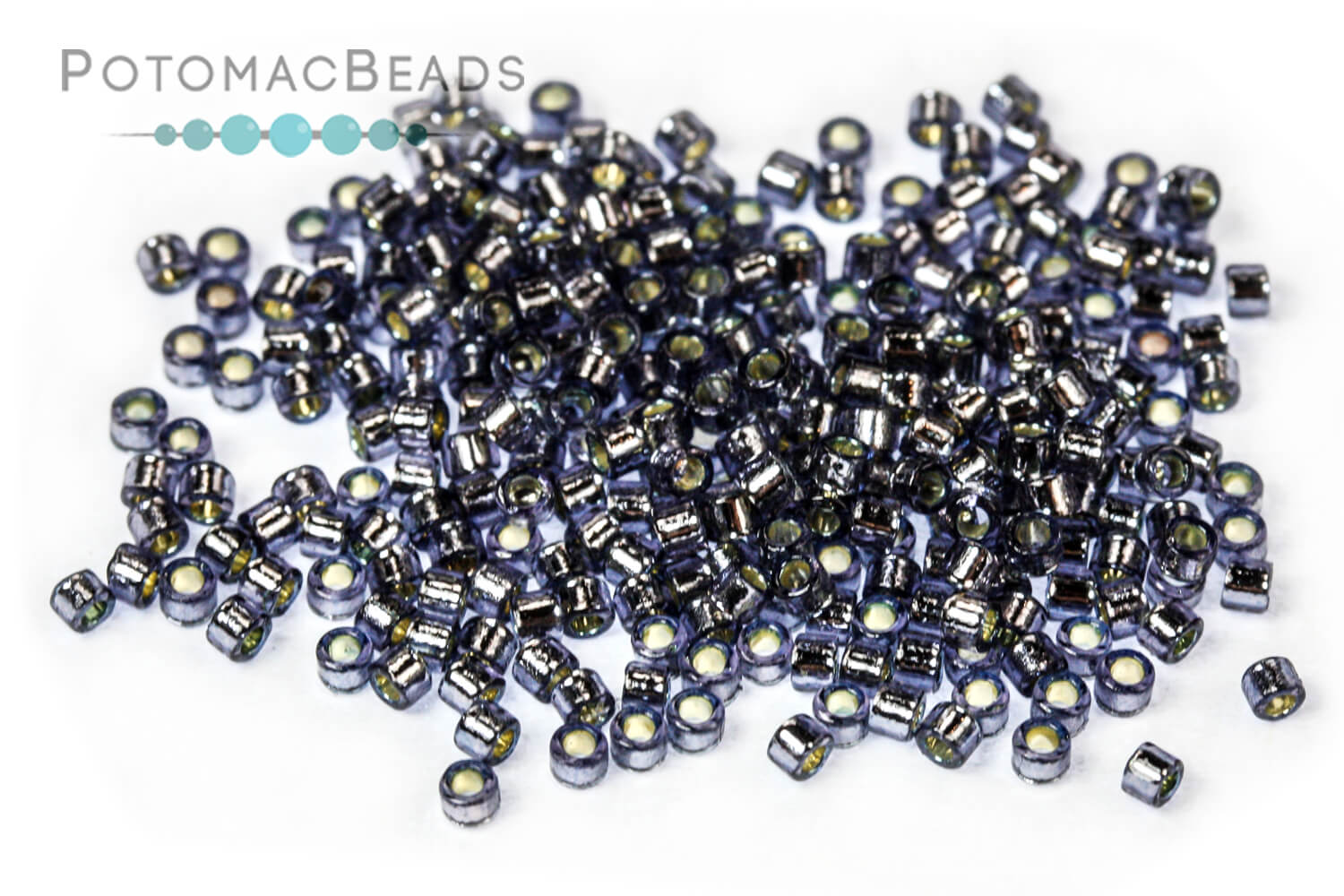 Seed Beads / Miyuki Delicas Beads / Delica Beads Size 11/0 - Duracoat Silver Lined Colors