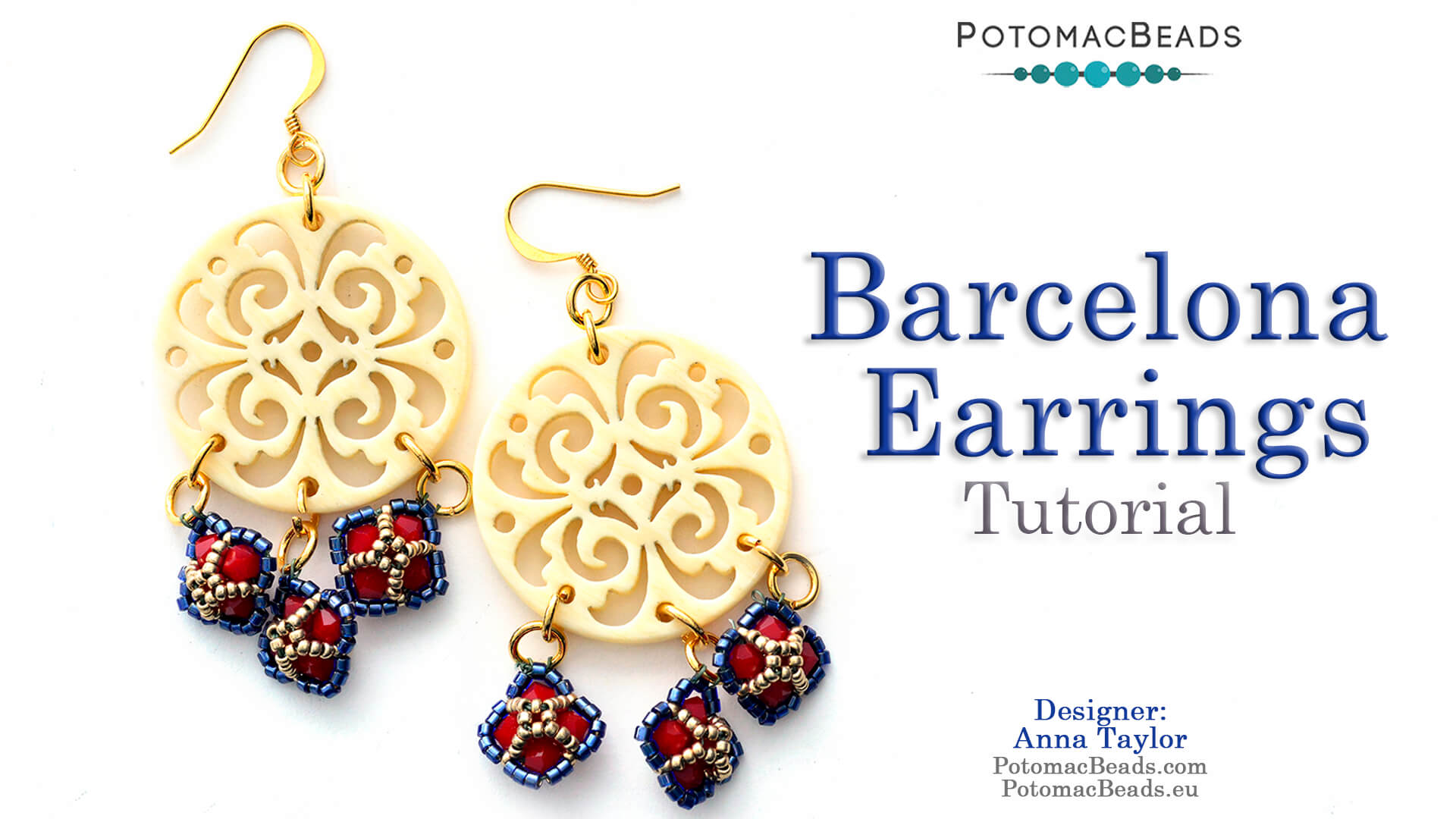 How to Bead Jewelry / Videos Sorted by Beads / Potomac Crystal Videos / Barcelona Earrings