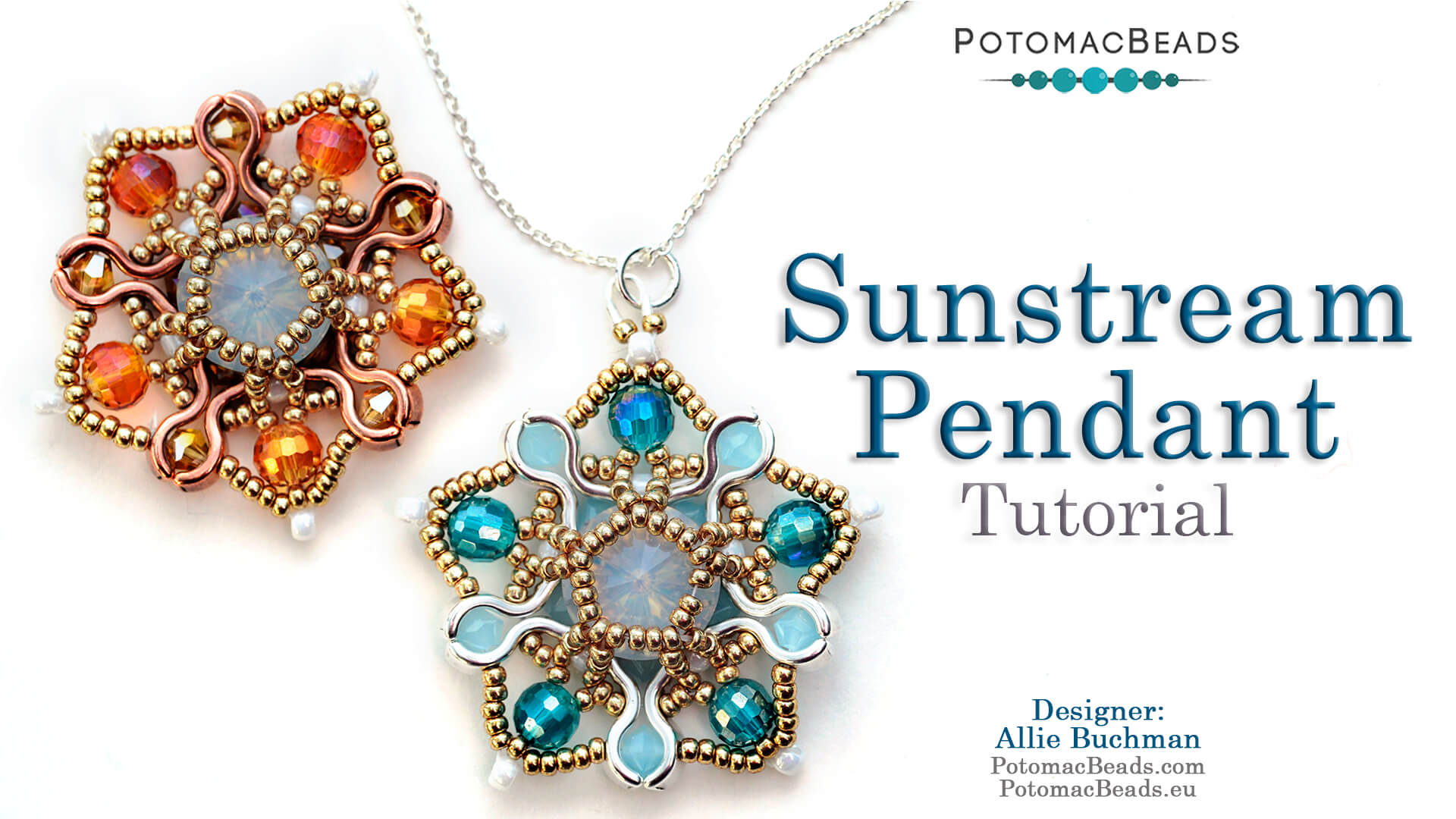 How to Bead / Videos Sorted by Beads / Potomax Metal Bead Videos / Sunstream Pendant Tutorial