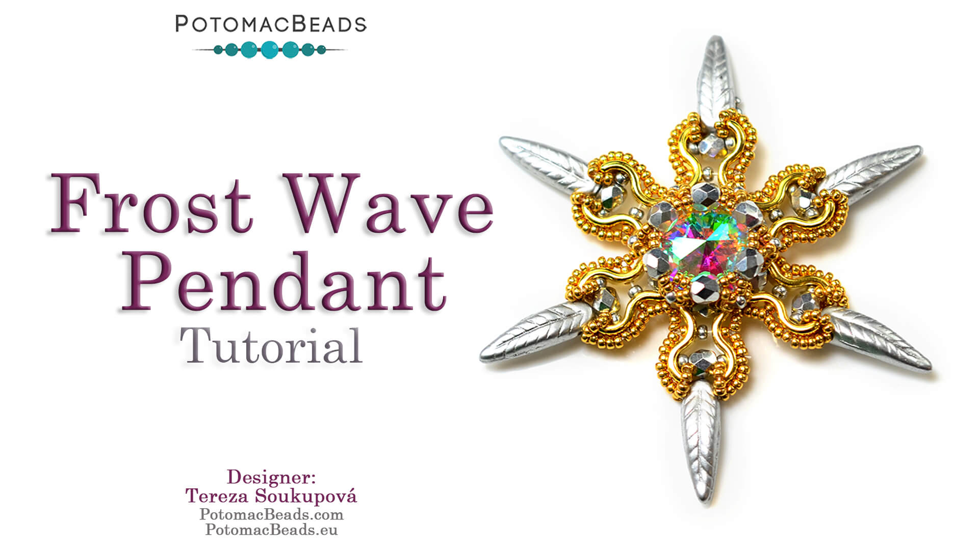 How to Bead / Videos Sorted by Beads / Potomax Metal Bead Videos / Frost Wave Pendant Tutorial