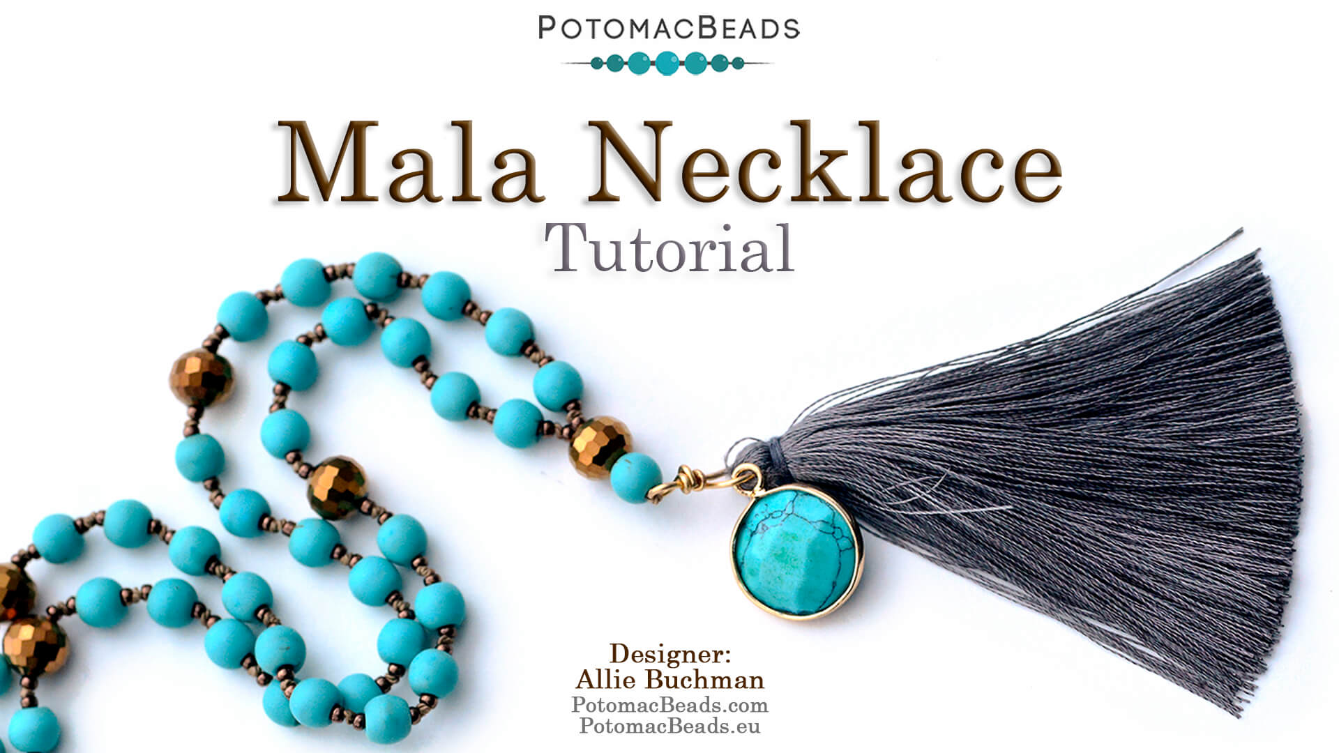 How to Bead Jewelry / Beading Tutorials & Jewel Making Videos / Bead Weaving Tutorials & Necklace Tutorial / Mala Necklace Tutorial