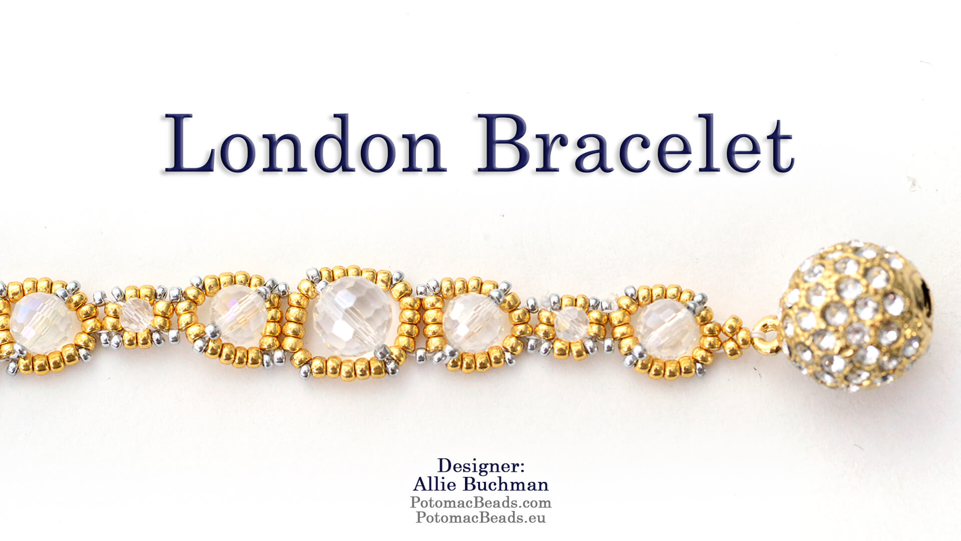 How to Bead Jewelry / Beading Tutorials & Jewel Making Videos / Bracelet Projects / London Bracelet Tutorial