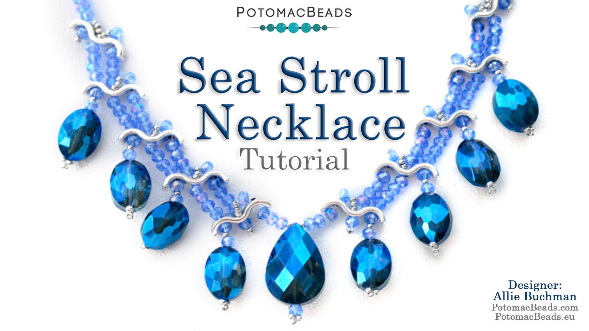 How to Bead Jewelry / Beading Tutorials & Jewel Making Videos / Bead Weaving Tutorials & Necklace Tutorial / Sea Stroll Necklace Tutorial