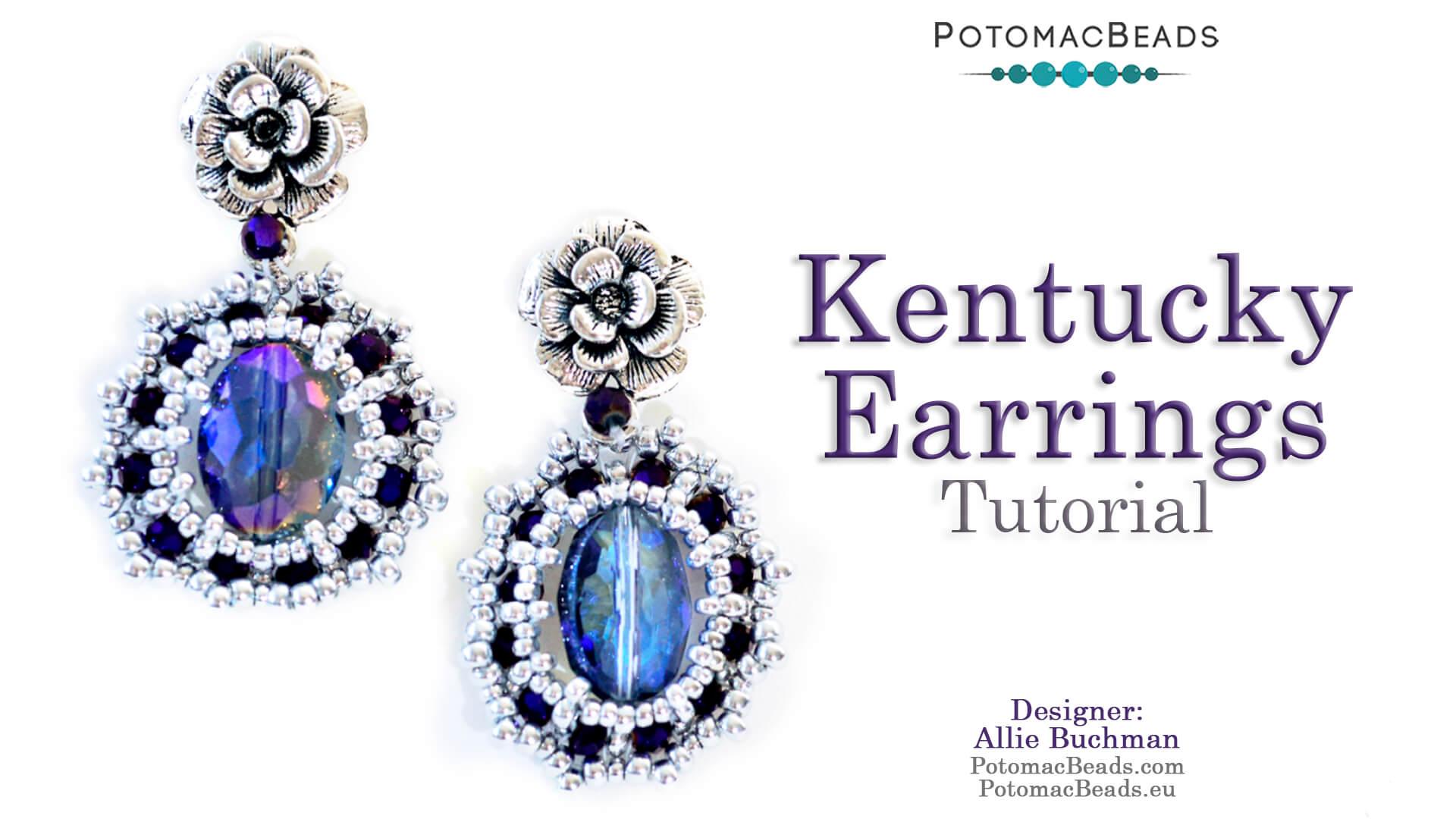 How to Bead Jewelry / Beading Tutorials & Jewel Making Videos / Earring Projects / Kentucky Earrings Tutorial
