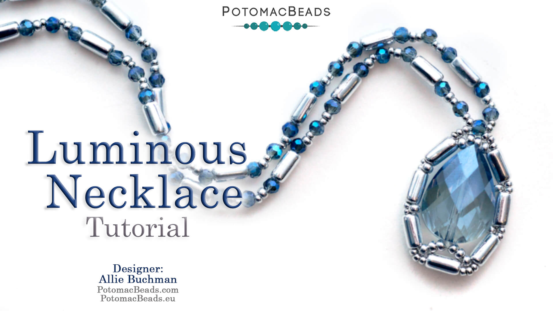 How to Bead / Free Video Tutorials / Necklace Projects / Luminous Necklace Tutorial