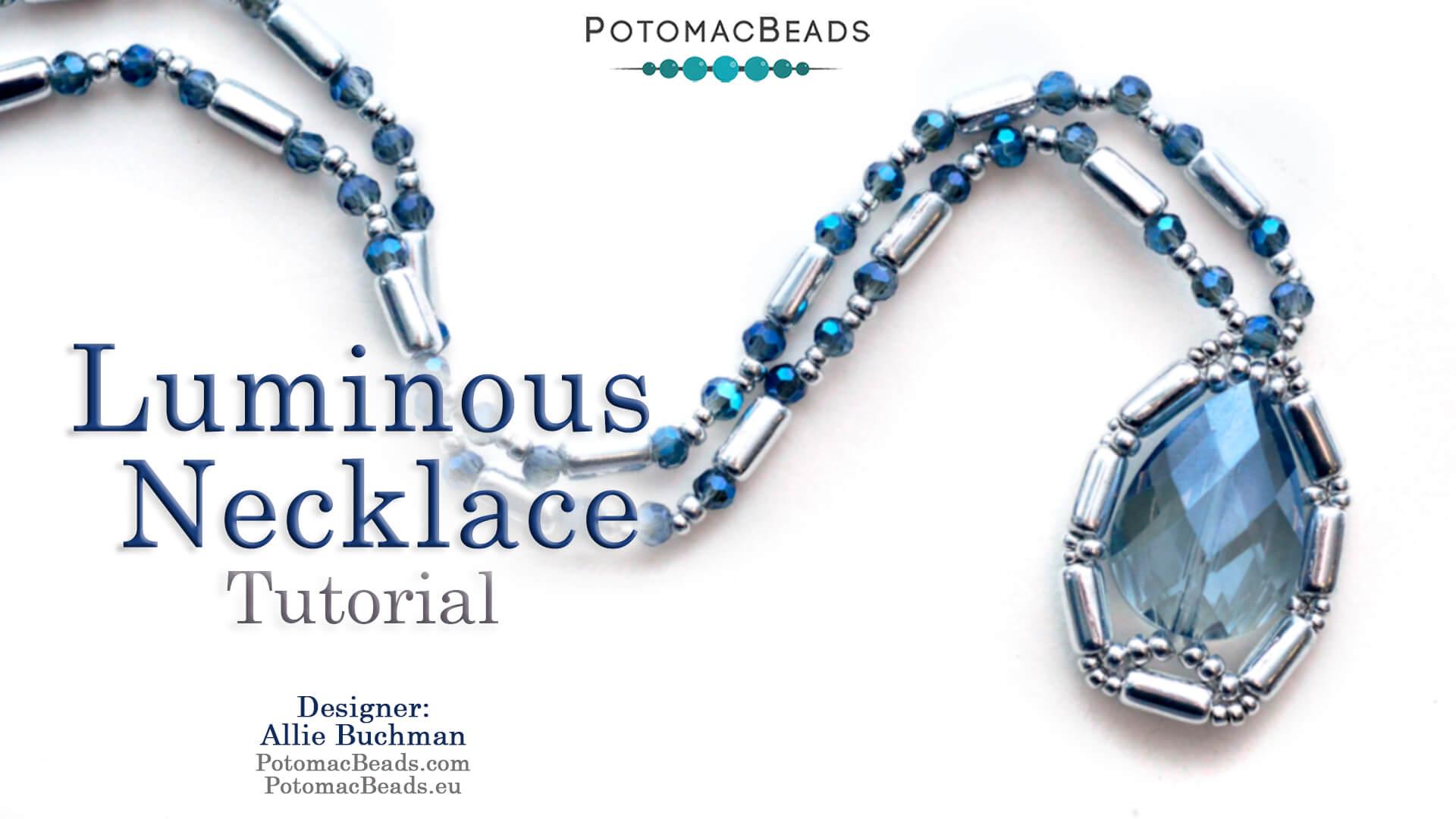 How to Bead Jewelry / Beading Tutorials & Jewel Making Videos / Bead Weaving Tutorials & Necklace Tutorial / Luminous Necklace Tutorial