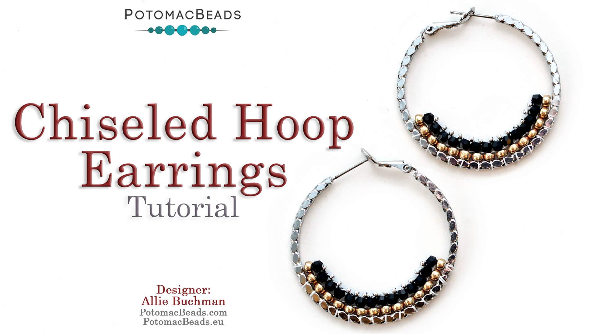 How to Bead / Free Video Tutorials / Earring Projects / Chiseled Hoop Earrings Tutorial