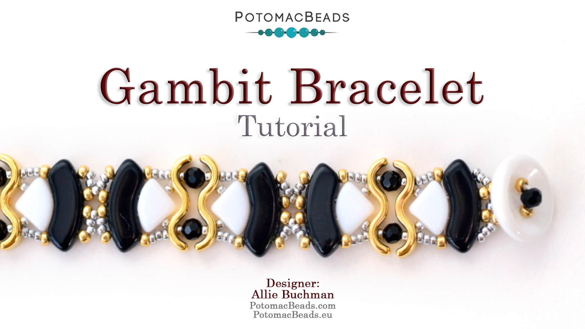 How to Bead / Videos Sorted by Beads / Potomax Metal Bead Videos / Gambit Bracelet Tutorial