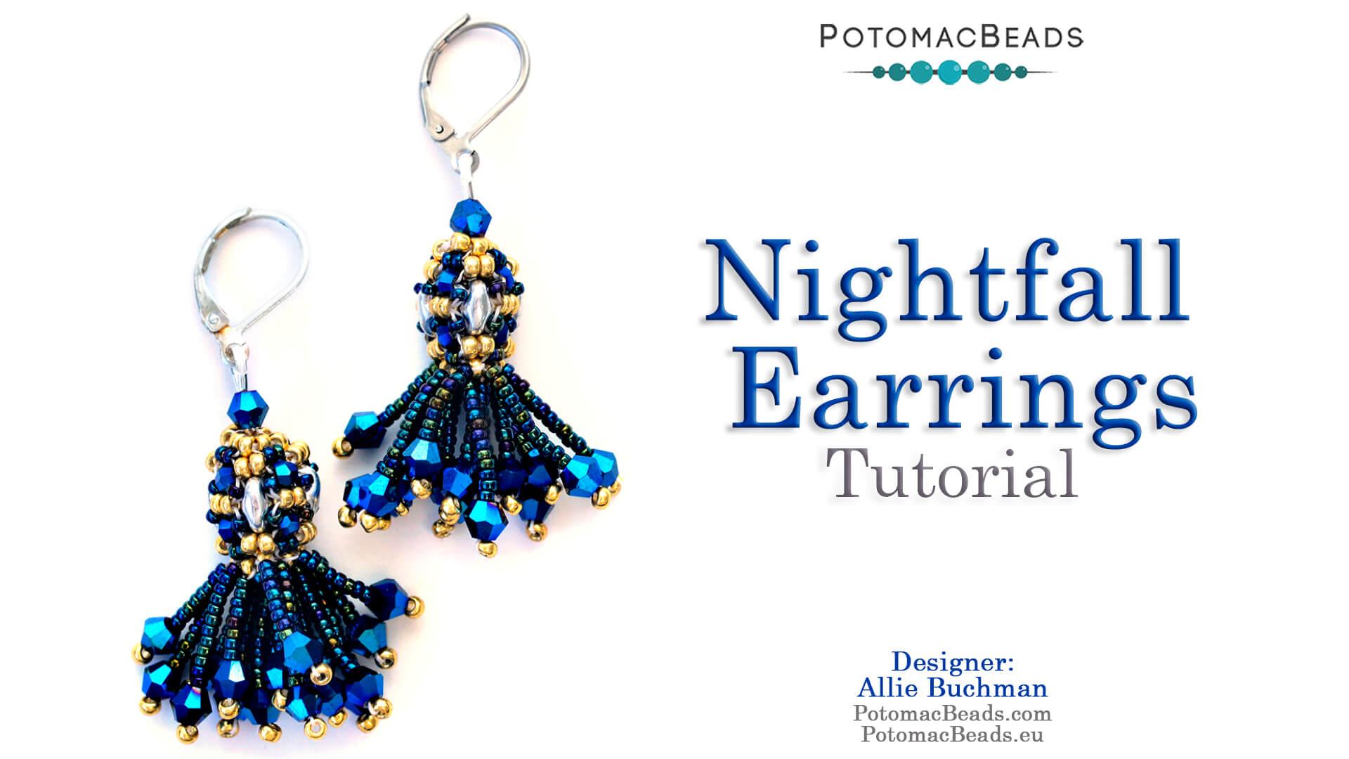 How to Bead Jewelry / Beading Tutorials & Jewel Making Videos / Earring Projects / Nightfall Earrings Tutorial
