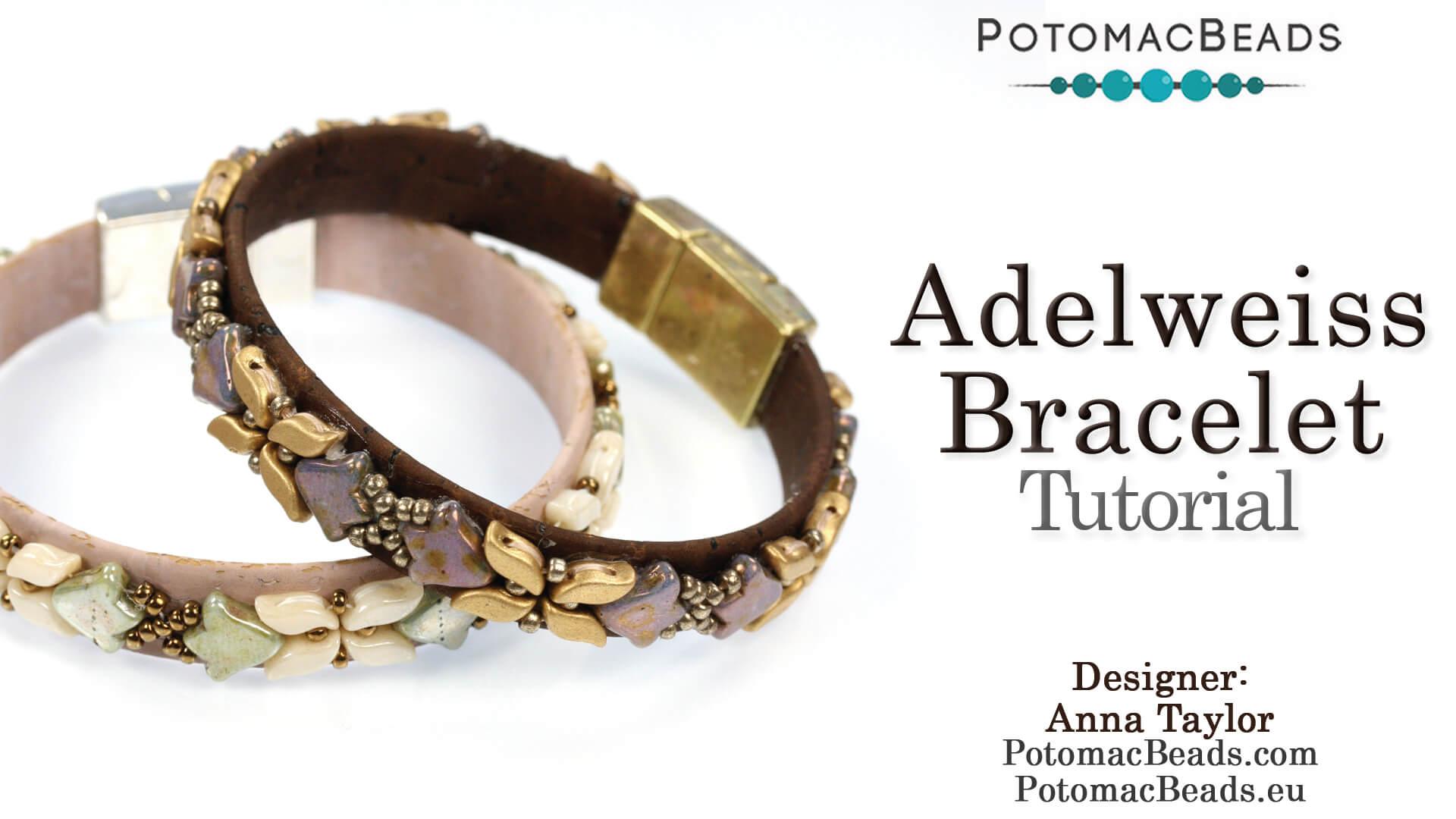 How to Bead Jewelry / Beading Tutorials & Jewel Making Videos / Bracelet Projects / Adelweiss Bracelet Tutorial