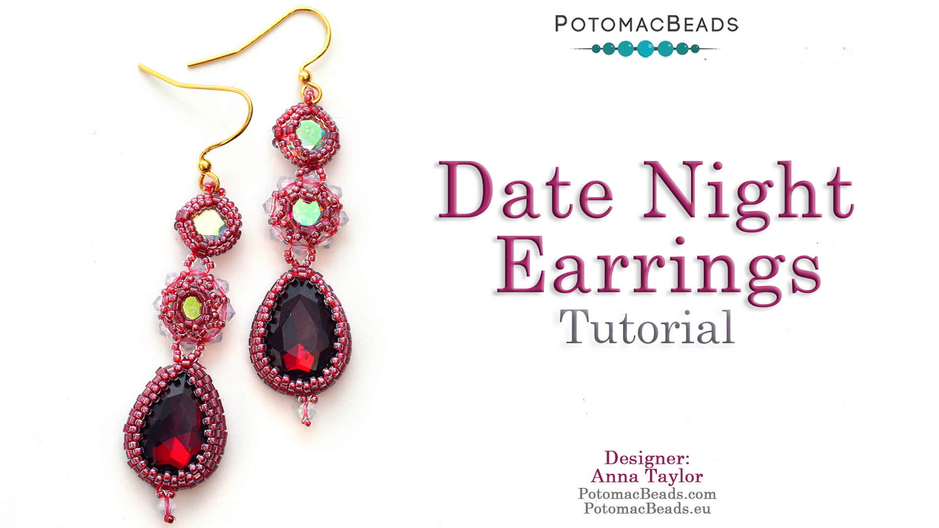 How to Bead Jewelry / Videos Sorted by Beads / Potomac Crystal Videos / Date Night Earrings Tutorial