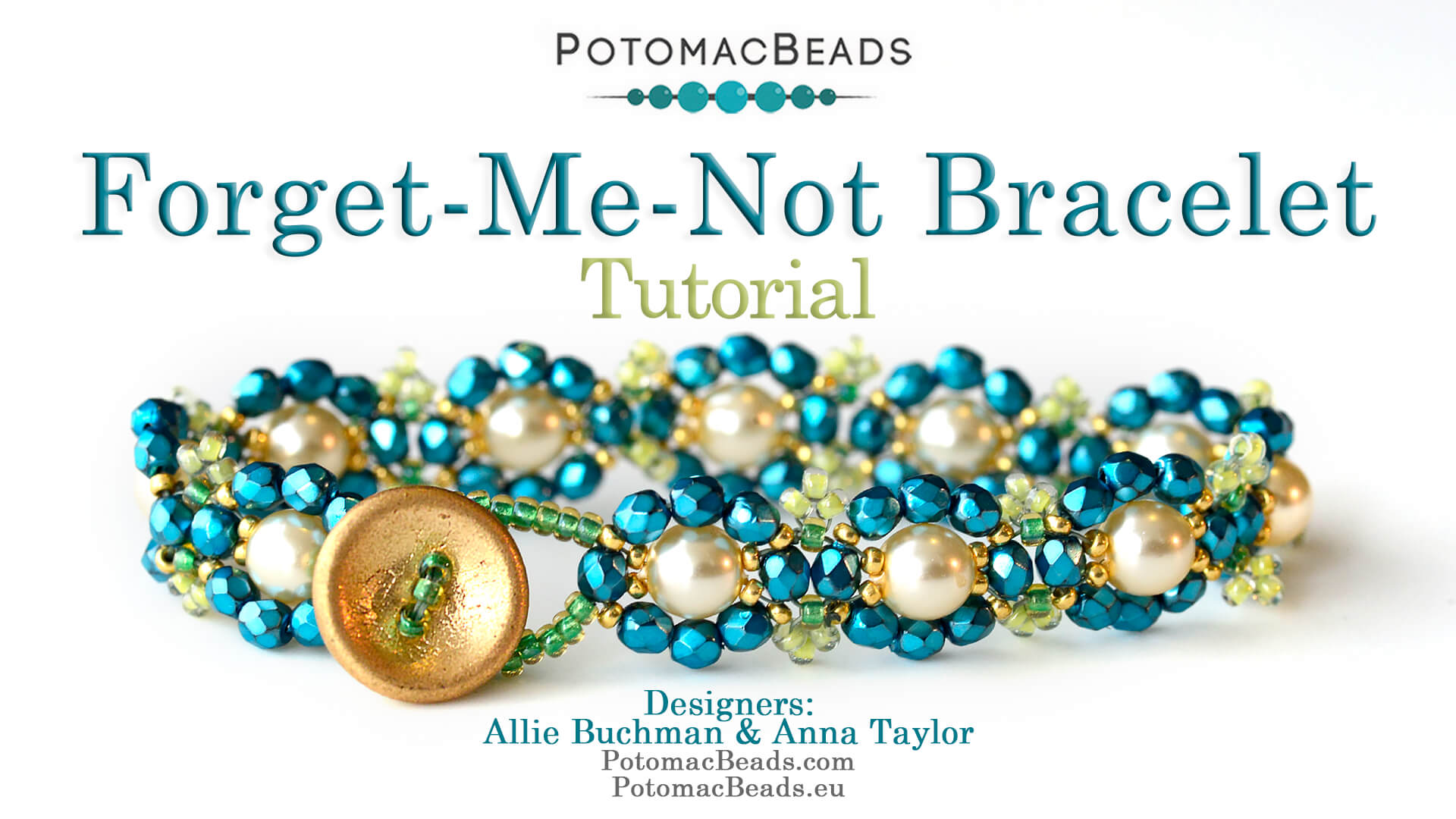 How to Bead Jewelry / Videos Sorted by Beads / Pearl Videos (Czech, Freshwater, Potomac Pearls) / Forget-Me-Not-Bracelet Tutorial