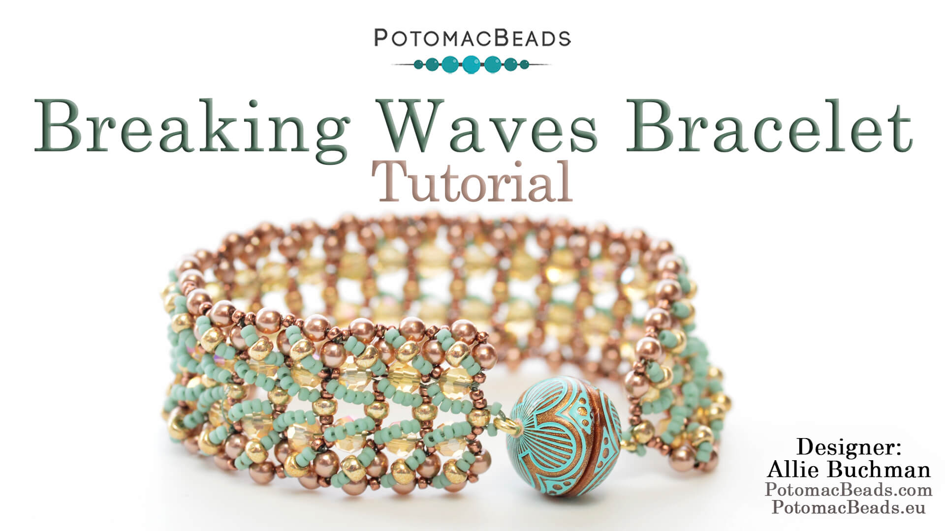 How to Bead / Videos Sorted by Beads / Pearl Videos (Czech & Freshwater) / Breaking Waves Bracelet Tutorial