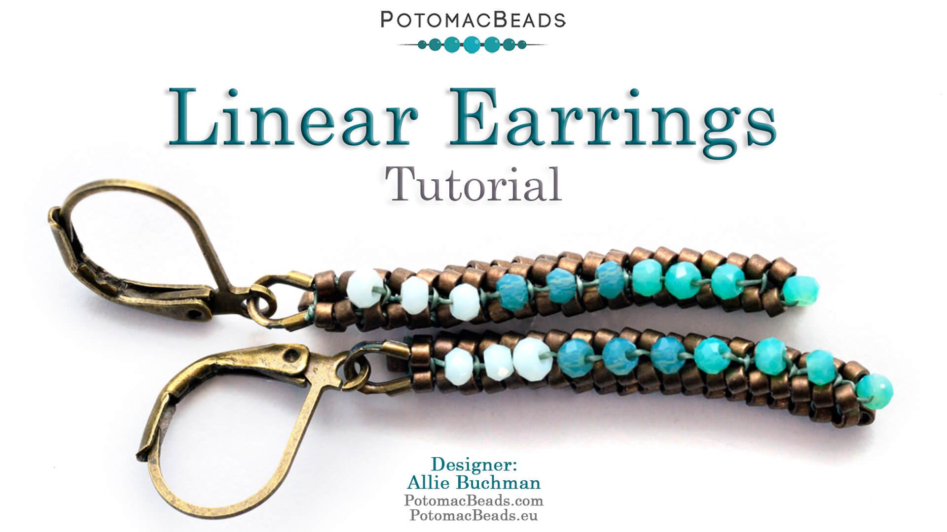 How to Bead / Free Video Tutorials / Tubular Herringbone Videos / Linear Earrings Tutorial