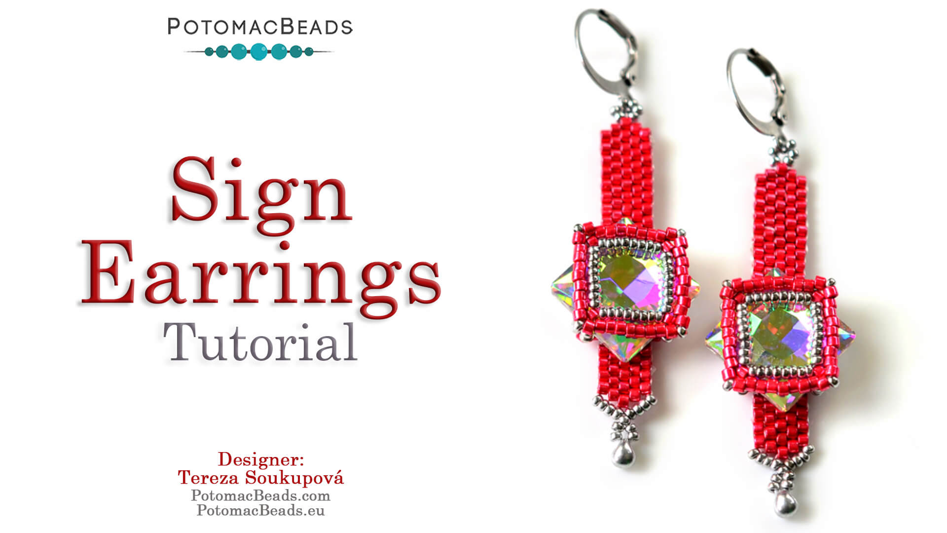 How to Bead / Free Video Tutorials / Earring Projects / Sign Earrings Tutorial