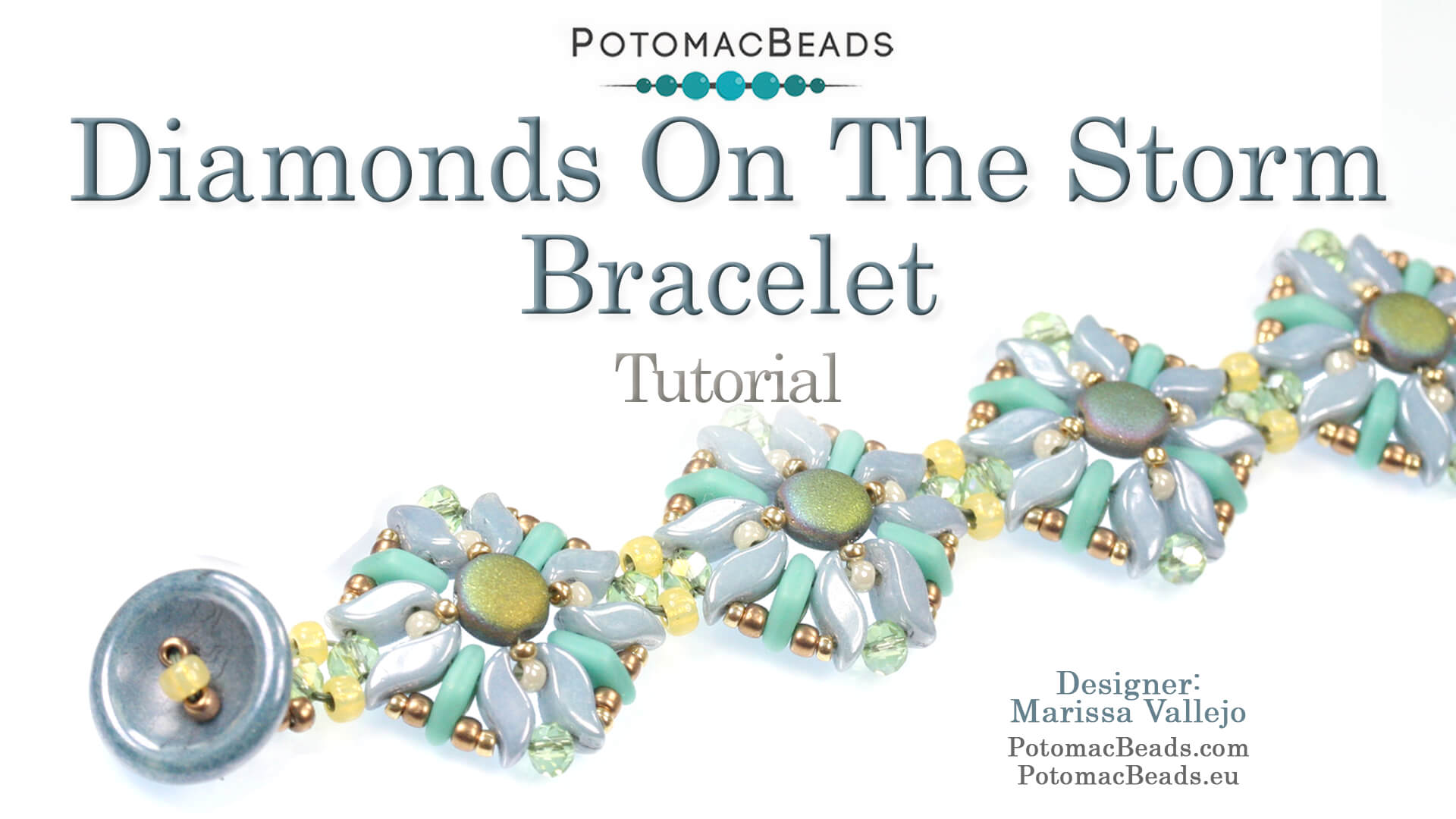 How to Bead / Videos Sorted by Beads / Potomac Crystal Videos / Diamonds on the Storm Bracelet Tutorial