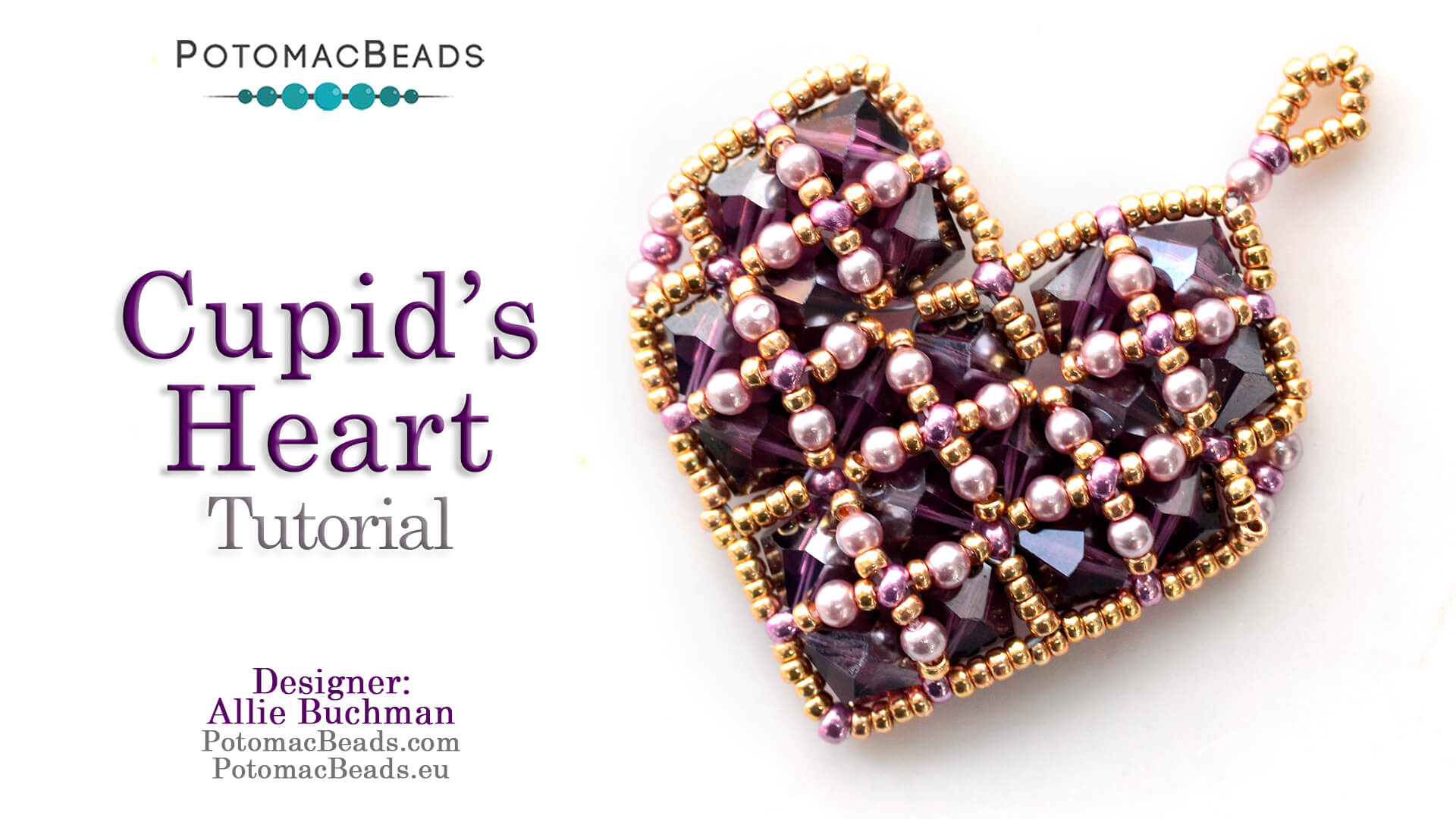 How to Bead / Videos Sorted by Beads / Pearl Videos (Czech & Freshwater) / Cupid's Heart Tutorial