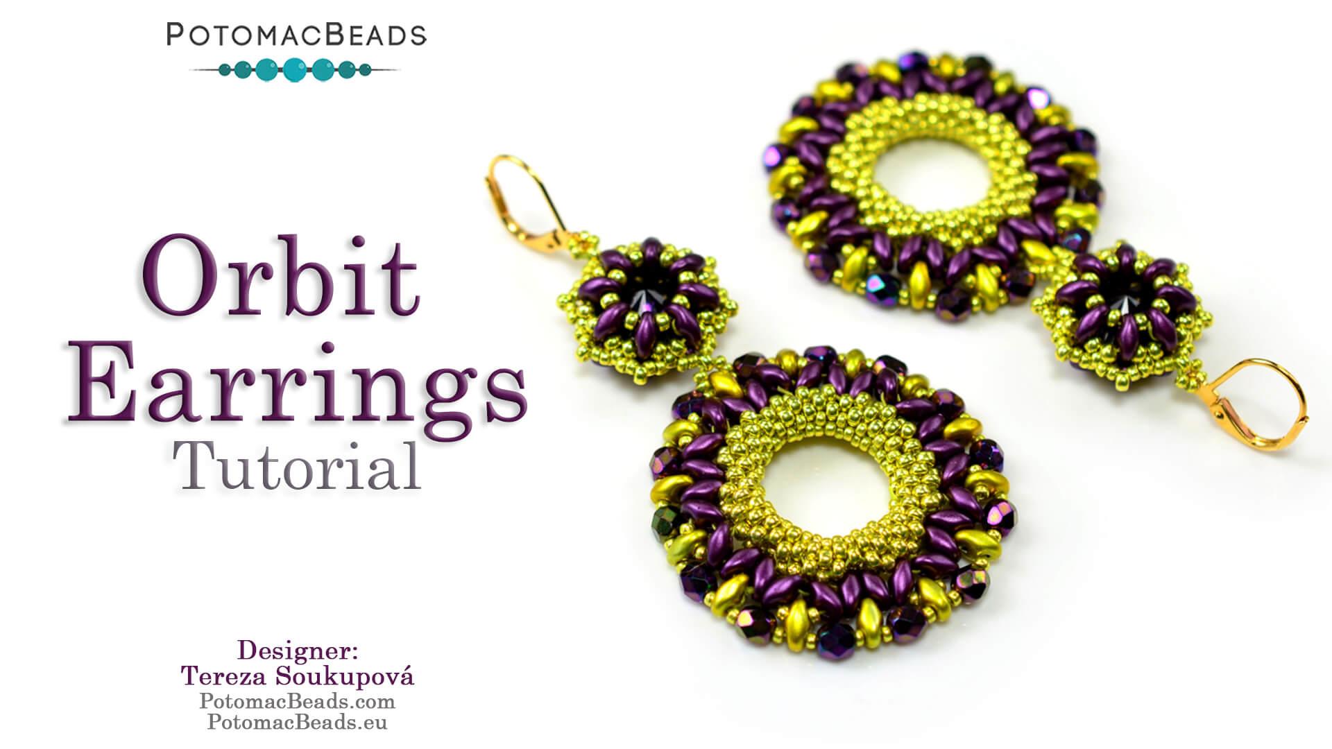 How to Bead / Free Video Tutorials / Peyote  Stitch Videos / Orbit Earrings Tutorial