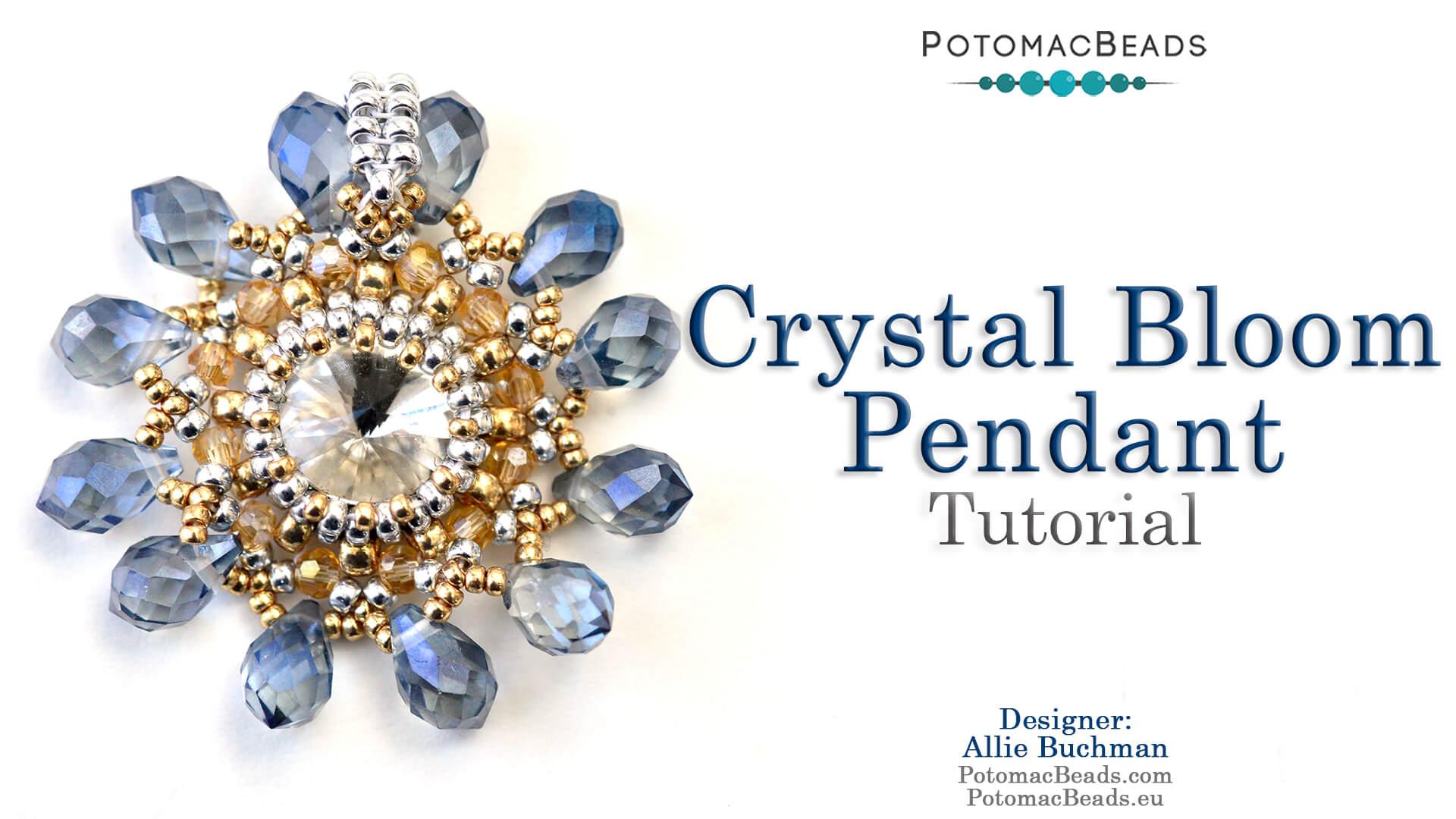 How to Bead / Free Video Tutorials / Peyote  Stitch Videos / Crystal Bloom Pendant Tutorial