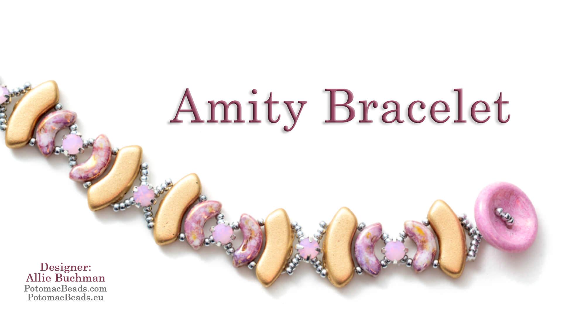 How to Bead Jewelry / Beading Tutorials & Jewel Making Videos / Bracelet Projects / Amity Bracelet Tutorial