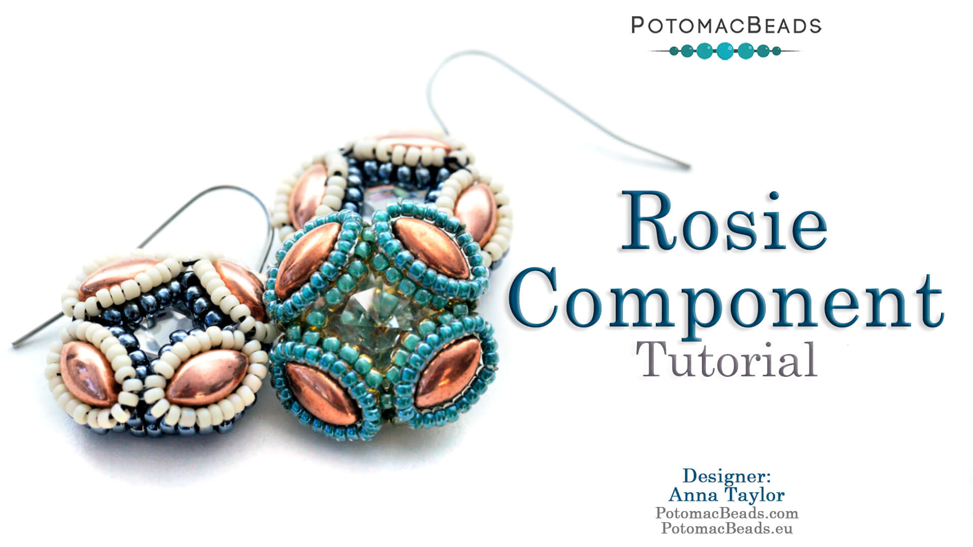 How to Bead Jewelry / Videos Sorted by Beads / Potomax Metal Bead Videos / Rosie Component Tutorial