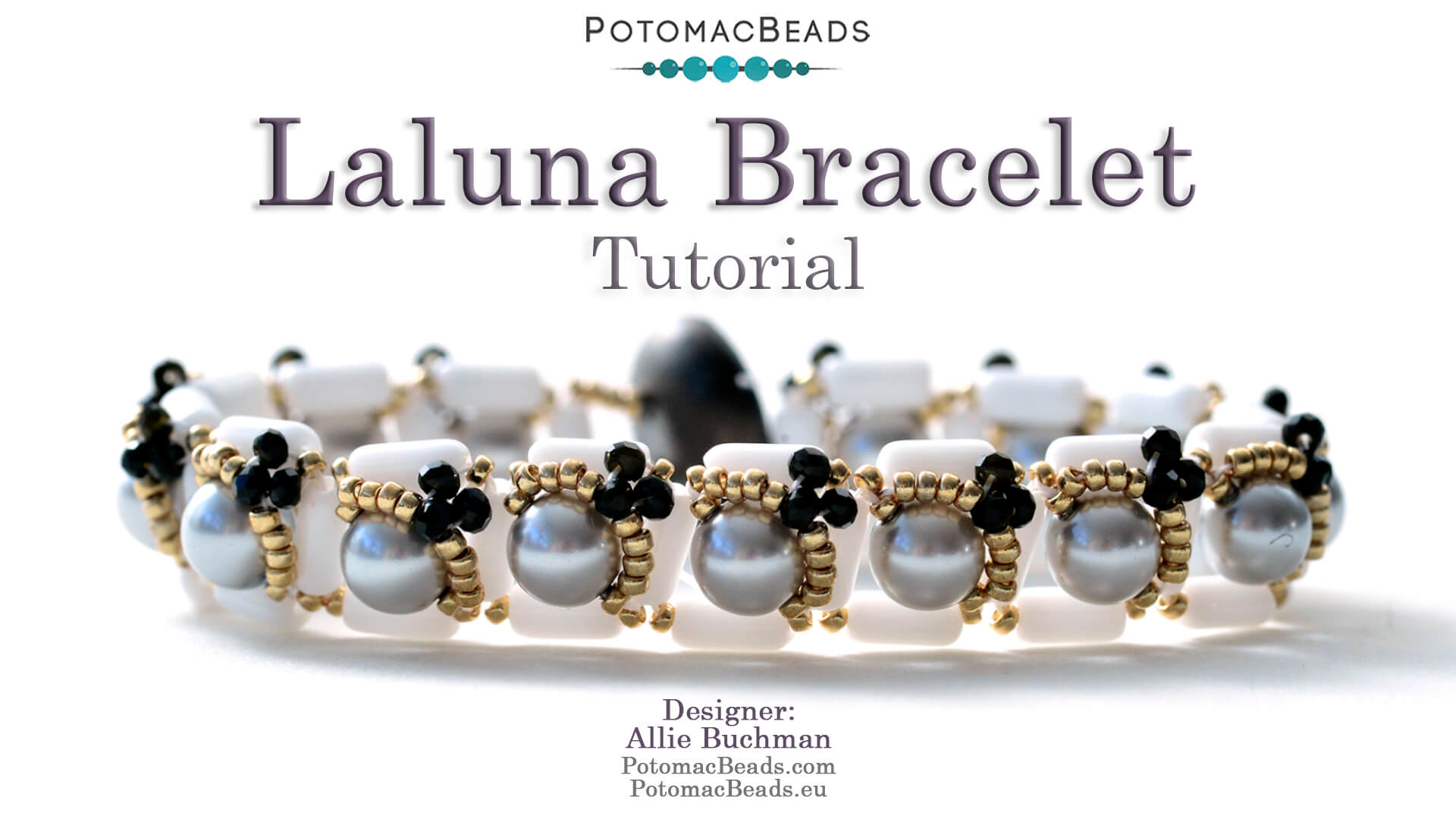 How to Bead Jewelry / Videos Sorted by Beads / Pearl Videos (Czech, Freshwater, Potomac Pearls) / Laluna Bracelet Tutorial