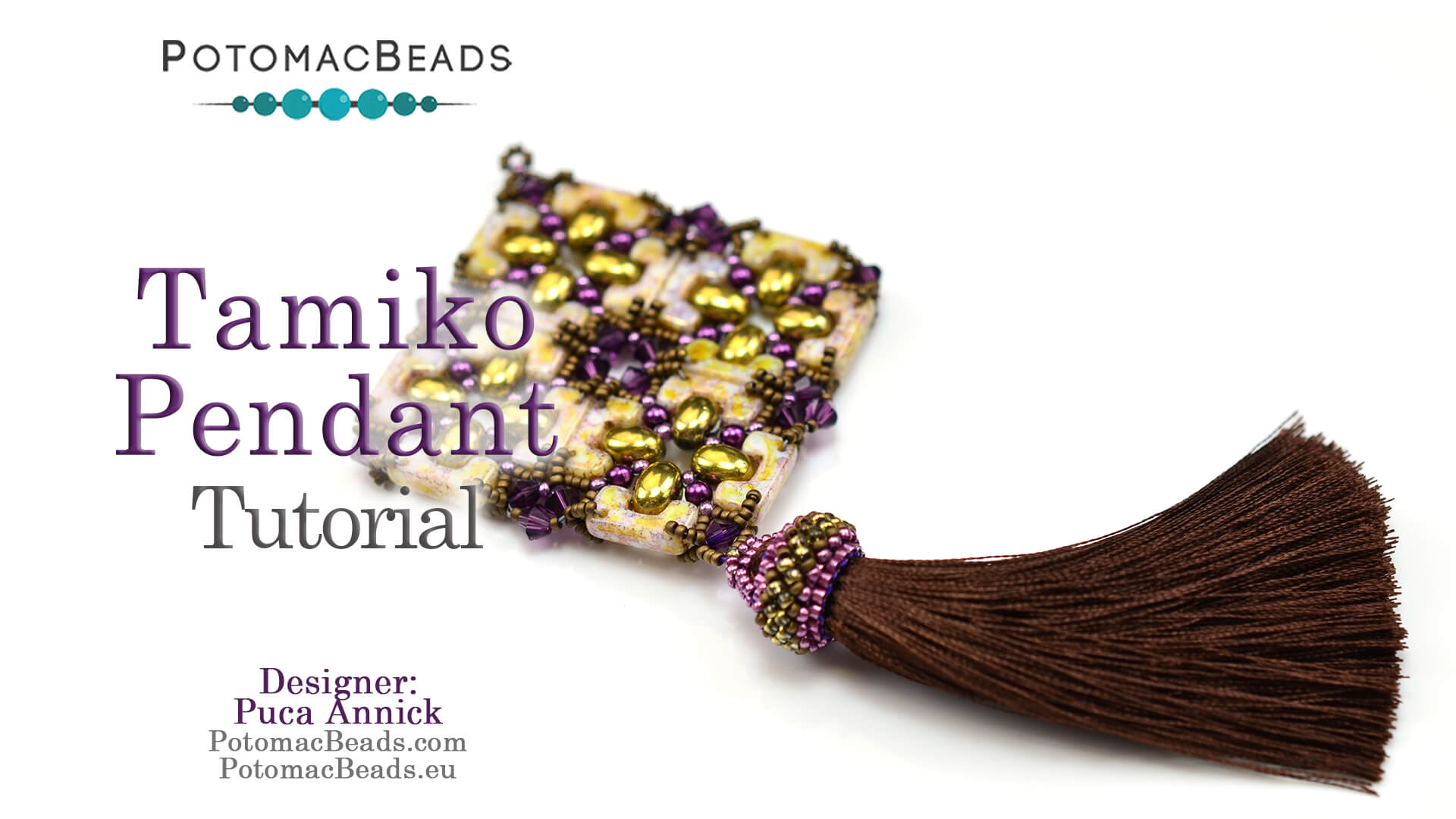 How to Bead Jewelry / Videos Sorted by Beads / Pearl Videos (Czech, Freshwater, Potomac Pearls) / Tamiko Pendant Tutorial