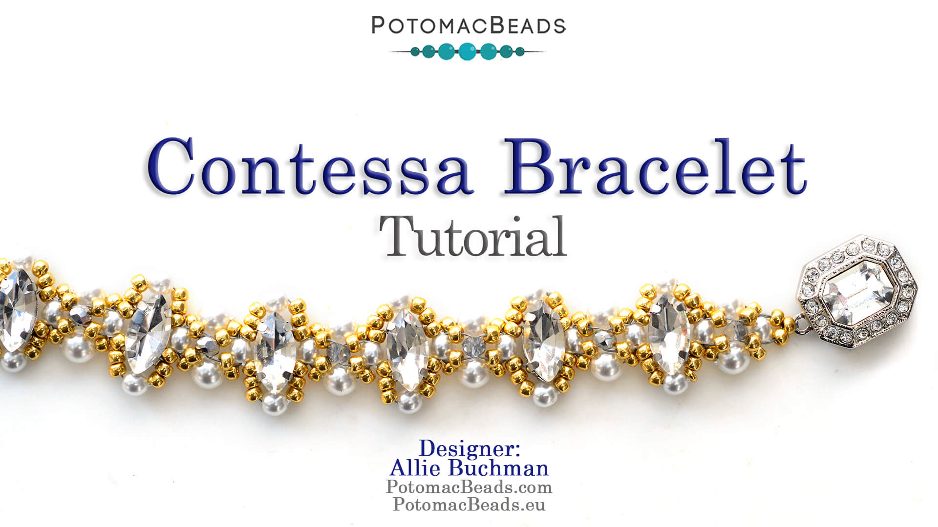 How to Bead Jewelry / Videos Sorted by Beads / Pearl Videos (Czech, Freshwater, Potomac Pearls) / Contessa Bracelet Tutorial