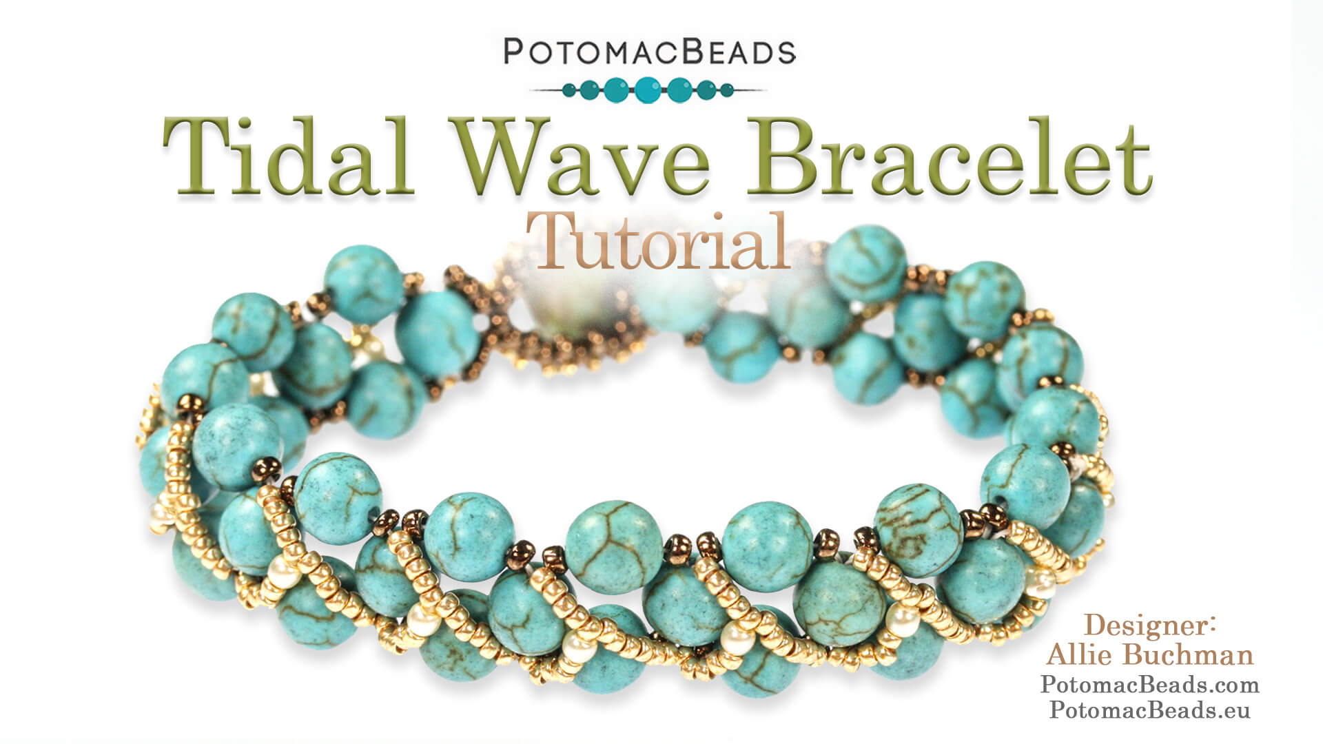 How to Bead Jewelry / Videos Sorted by Beads / Pearl Videos (Czech, Freshwater, Potomac Pearls) / Tidal Wave Bracelet Tutorial