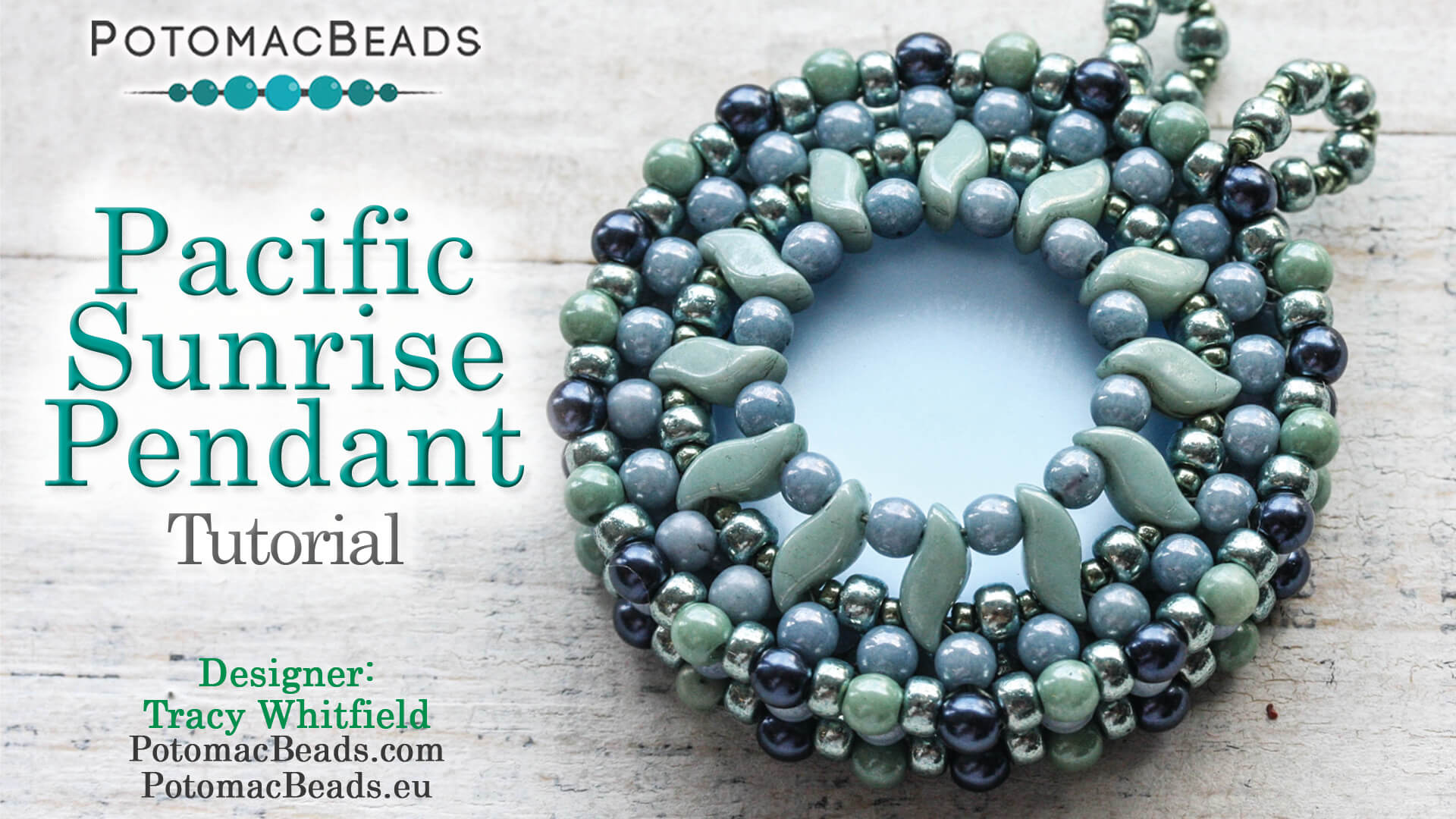 How to Bead Jewelry / Videos Sorted by Beads / Pearl Videos (Czech, Freshwater, Potomac Pearls) / Pacific Sunrise Pendant Tutorial