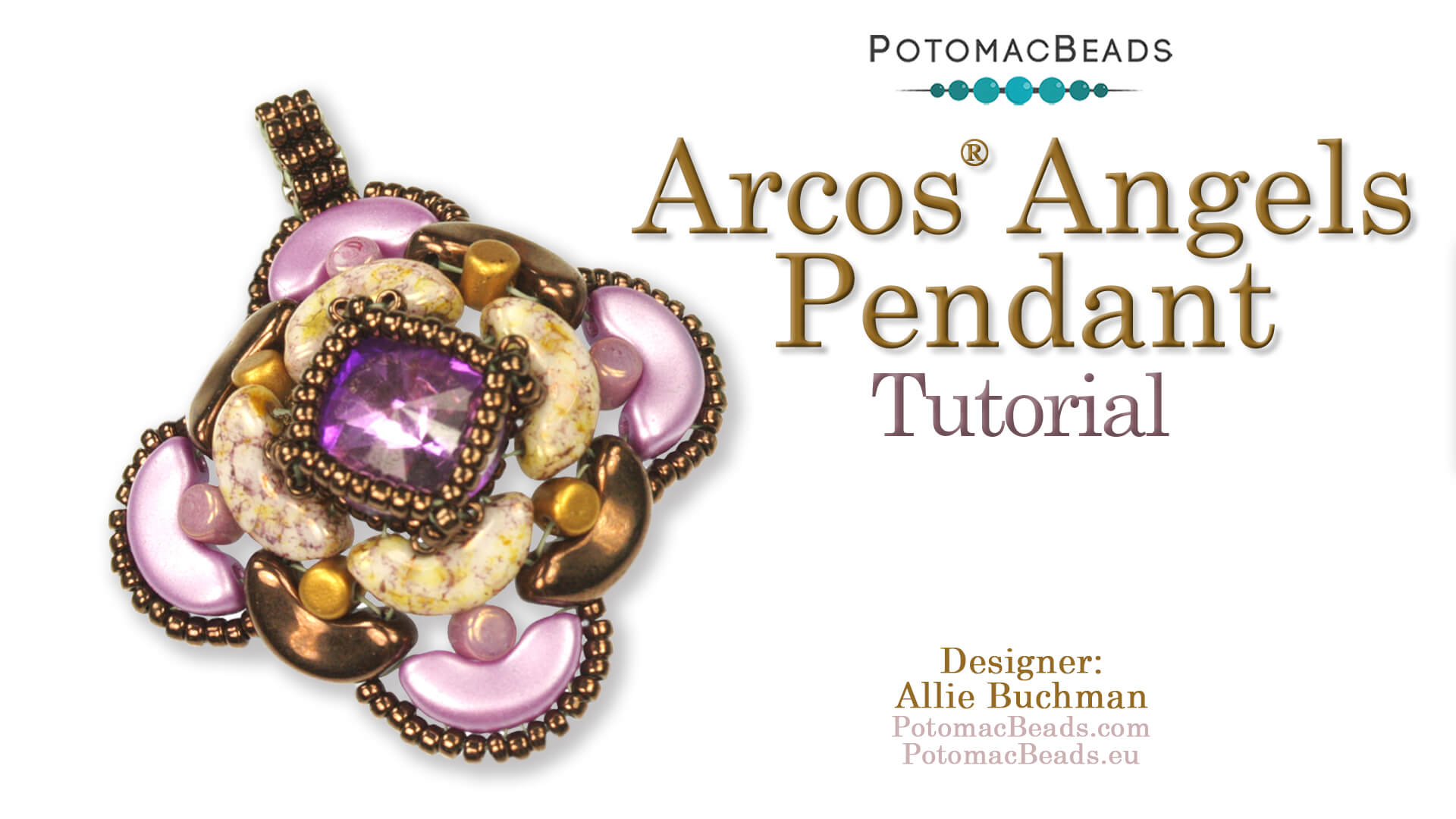 How to Bead / Free Video Tutorials / Peyote  Stitch Videos / Arcos Angels Pendant Tutorial