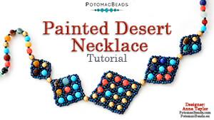 How to Bead Jewelry / Beading Tutorials & Jewel Making Videos / Bead Weaving Tutorials & Necklace Tutorial / Painted Desert Necklace Tutorial