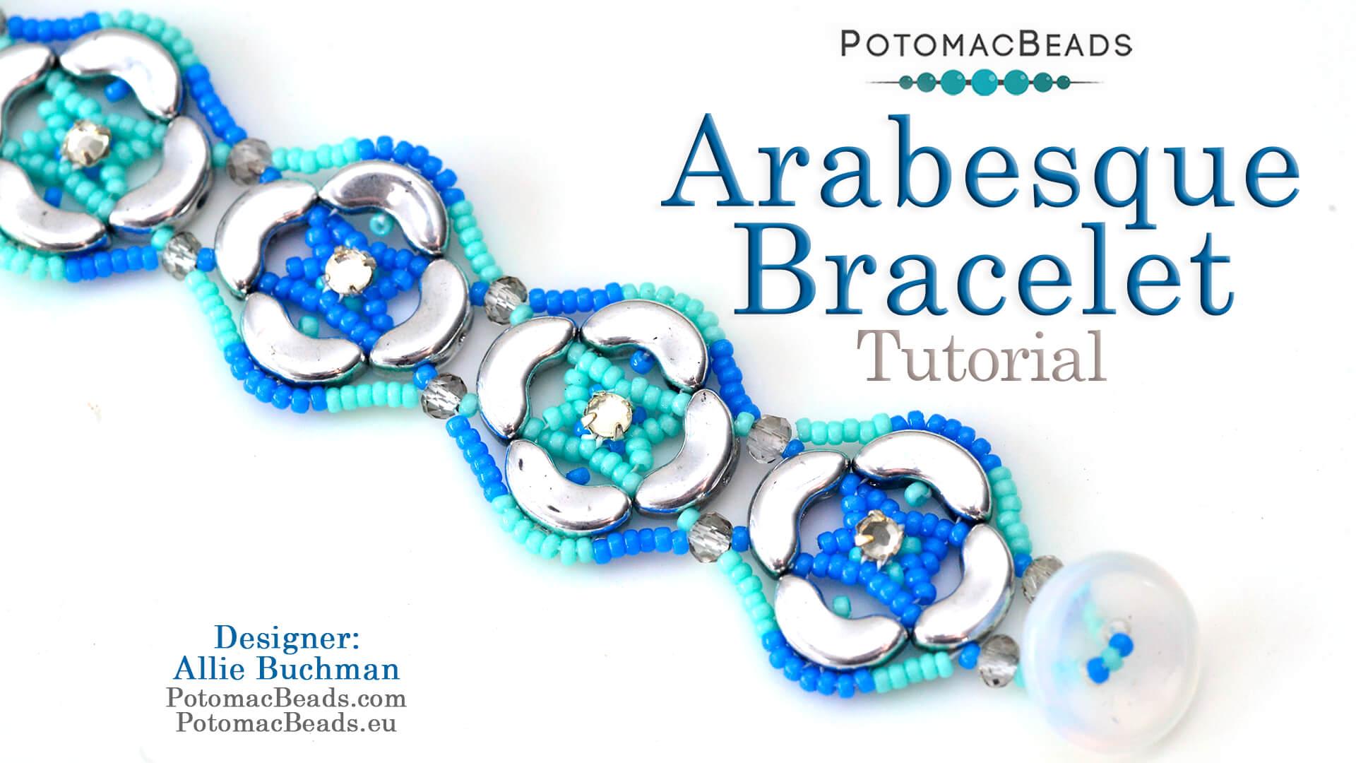 How to Bead / Free Video Tutorials / Free Form Videos / Arabesque Bracelet Tutorial
