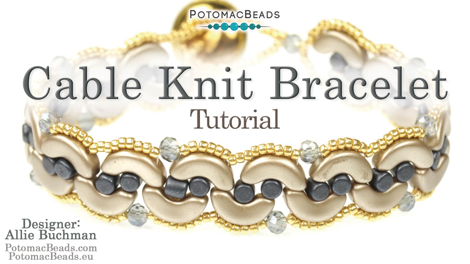 How to Bead Jewelry / Beading Tutorials & Jewel Making Videos / Herringbone Stitch Videos / Cable Knit Bracelet Tutorial