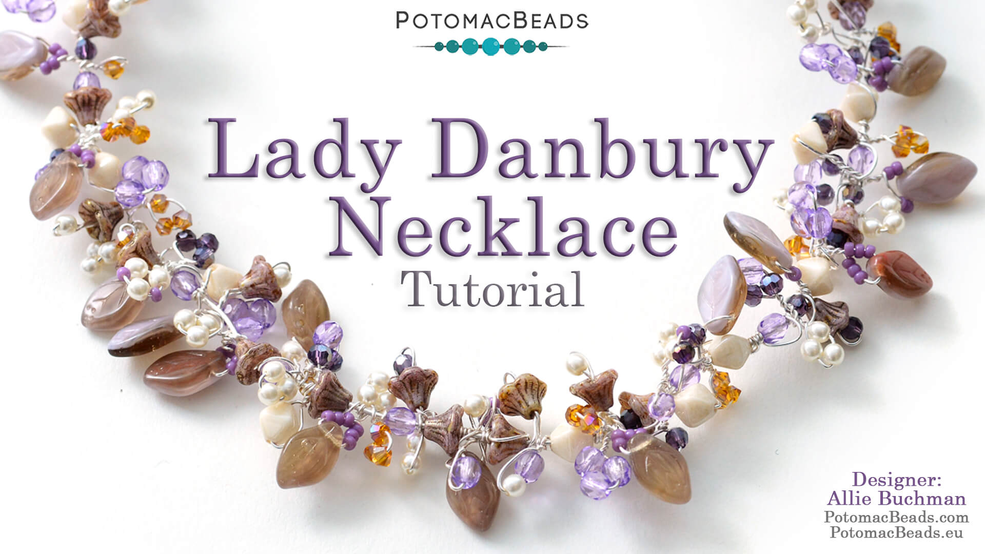 How to Bead Jewelry / Videos Sorted by Beads / Potomac Crystal Videos / Lady Danbury Necklace Tutorial