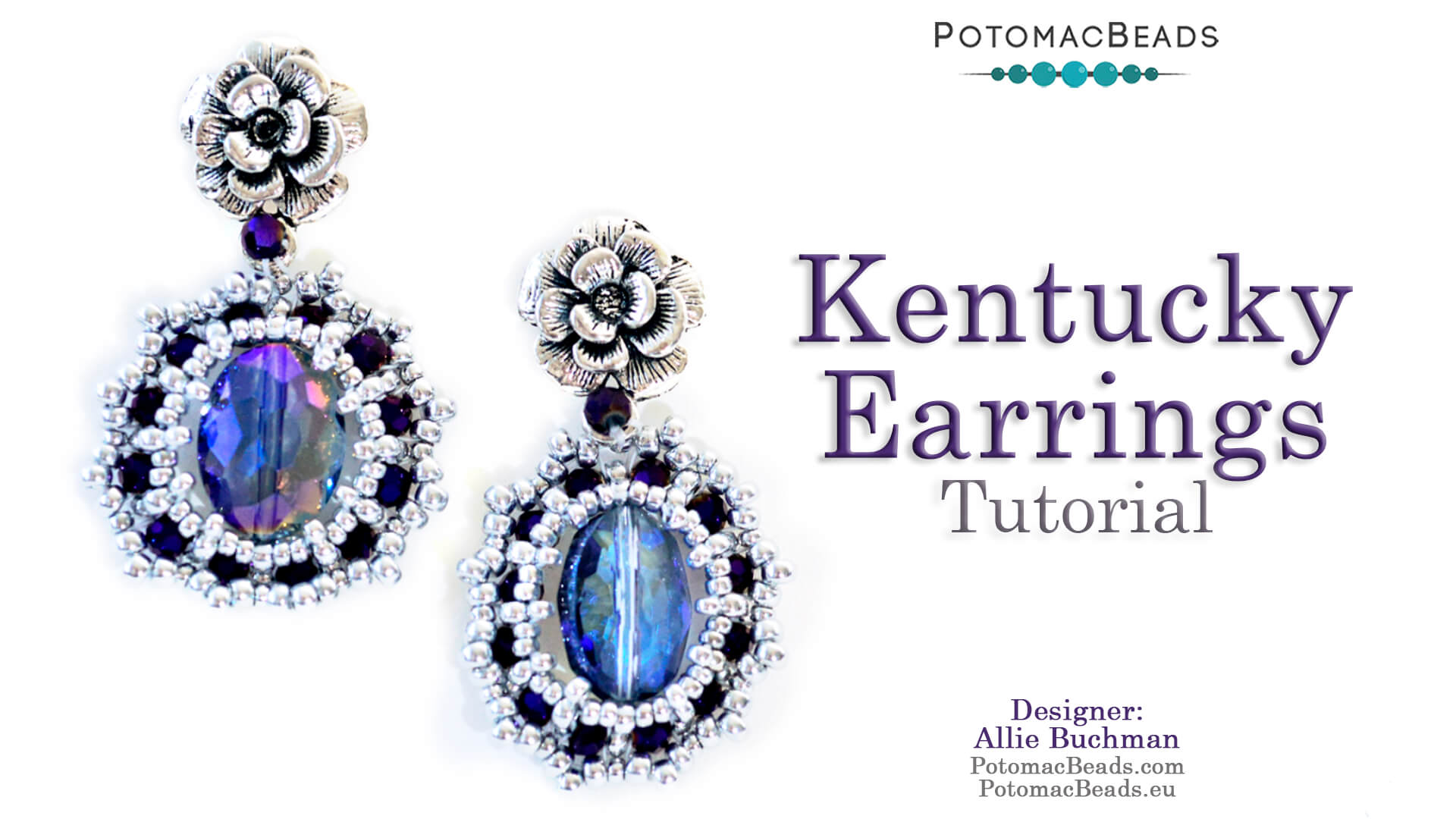 How to Bead Jewelry / Videos Sorted by Beads / Potomac Crystal Videos / Kentucky Earrings Tutorial