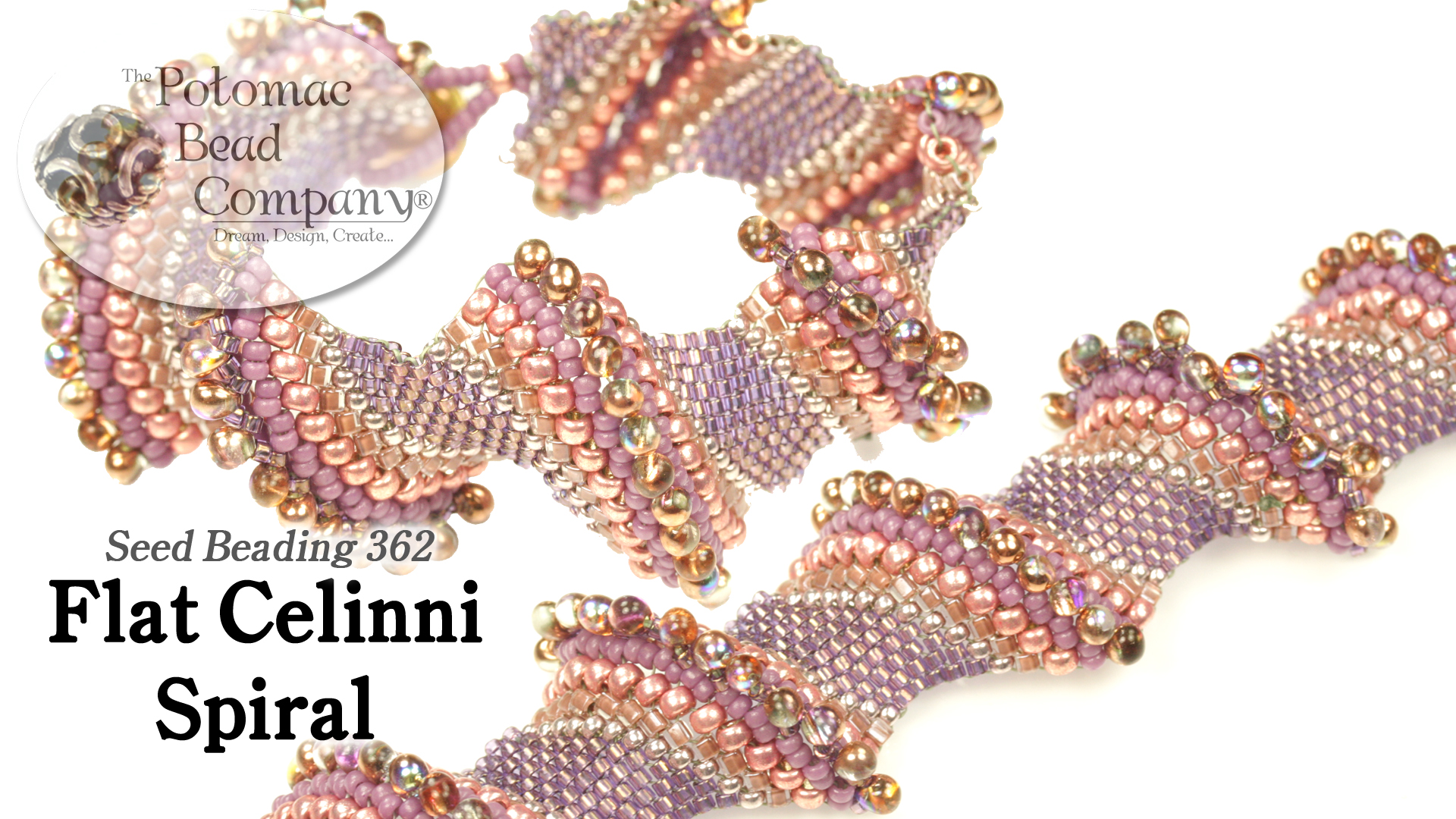 How to Bead / Free Video Tutorials / Bracelet Projects / Flat Celinni Spiral Tutorial