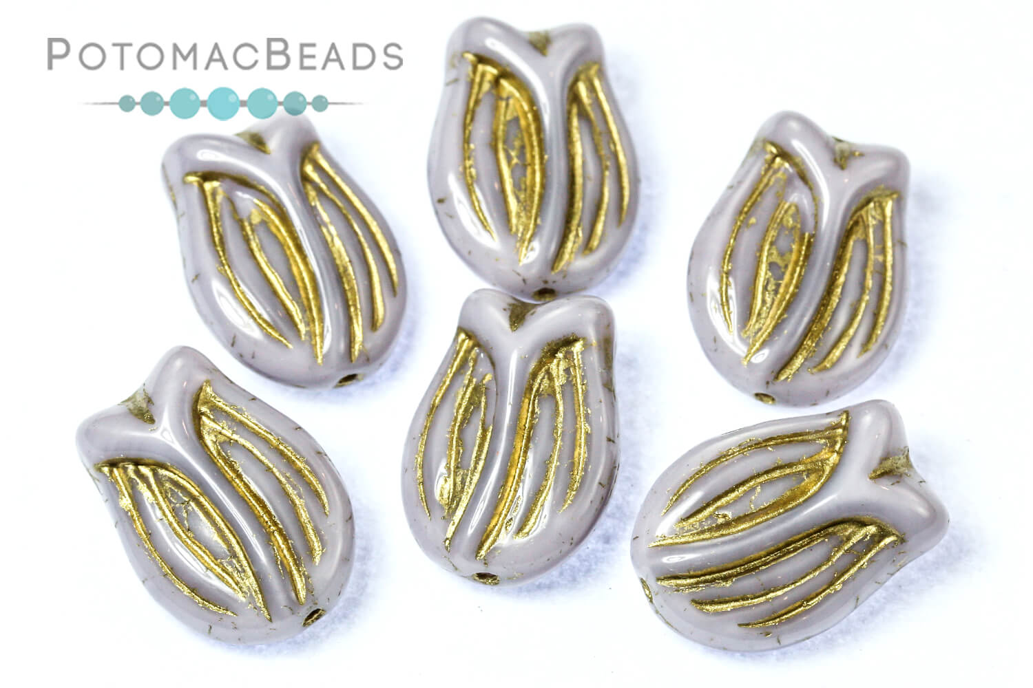 Czech Glass / Tulip Flower Beads