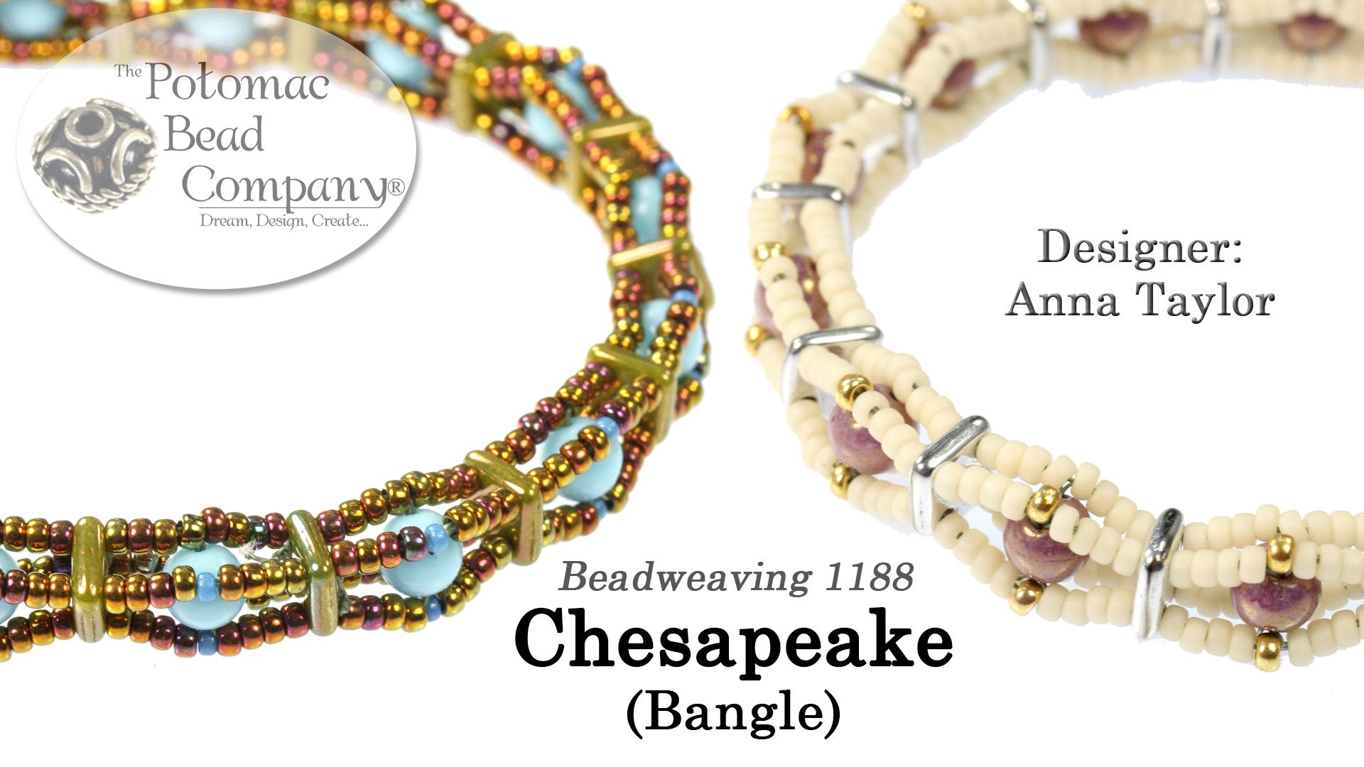 How to Bead Jewelry / Videos Sorted by Beads / RounDuo® & RounDuo® Mini Bead Videos / Chesapeake Bangle Tutorial
